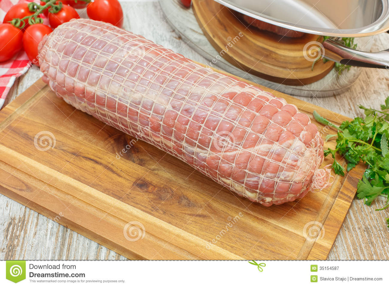 Raw Veal Roulade Royalty-Free Stock Image