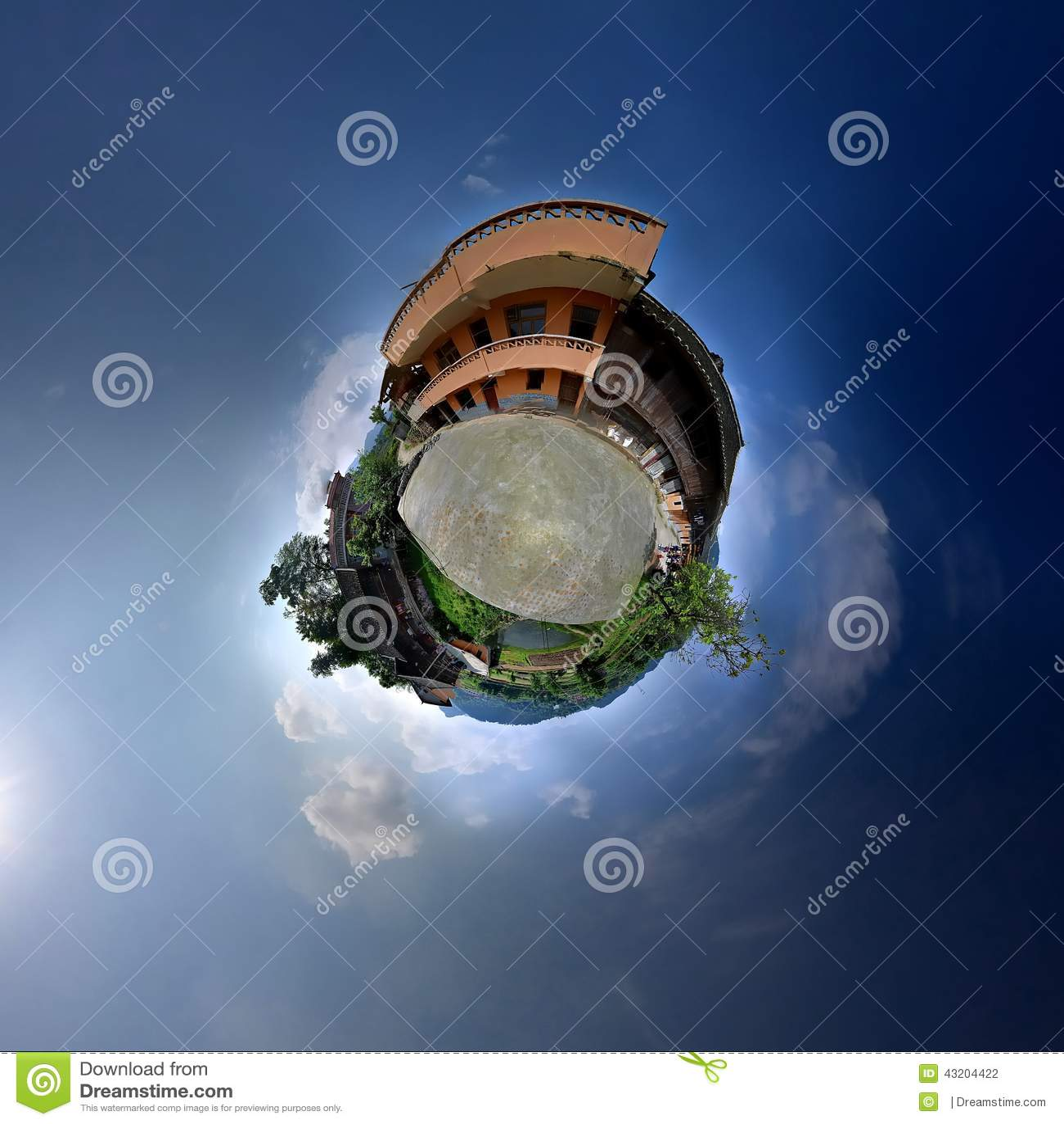 Download Stuga med panoramautsikter arkivfoto. Bild av behandla - 43204422