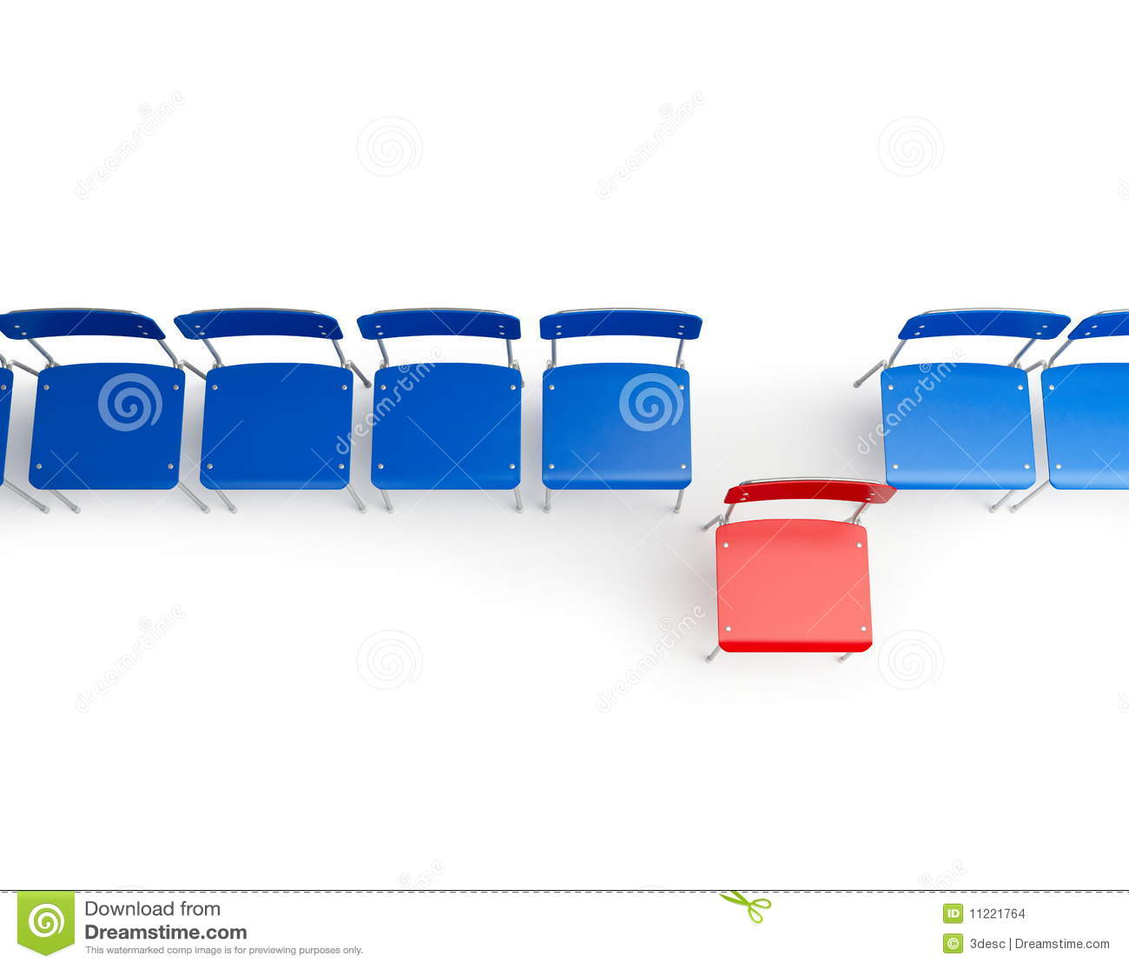Stuhlreihe clipart  Stuhlreihe Stockbilder - Bild: 11221764