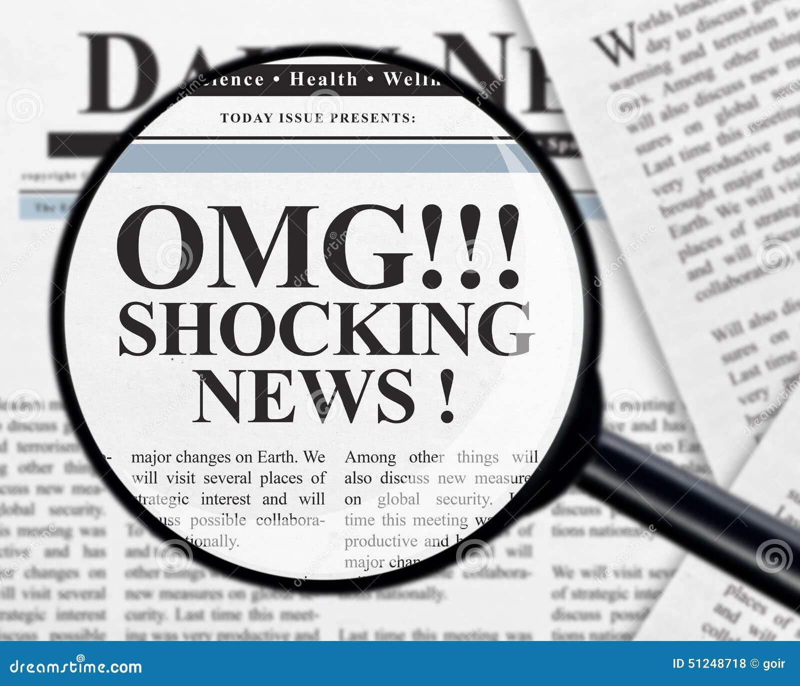 Stuitende nieuwskrantekop