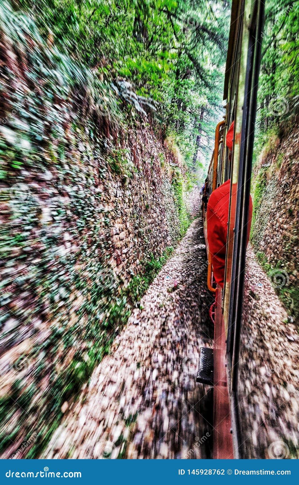 Stuk speelgoed het leven van Shimla van de treinliefde