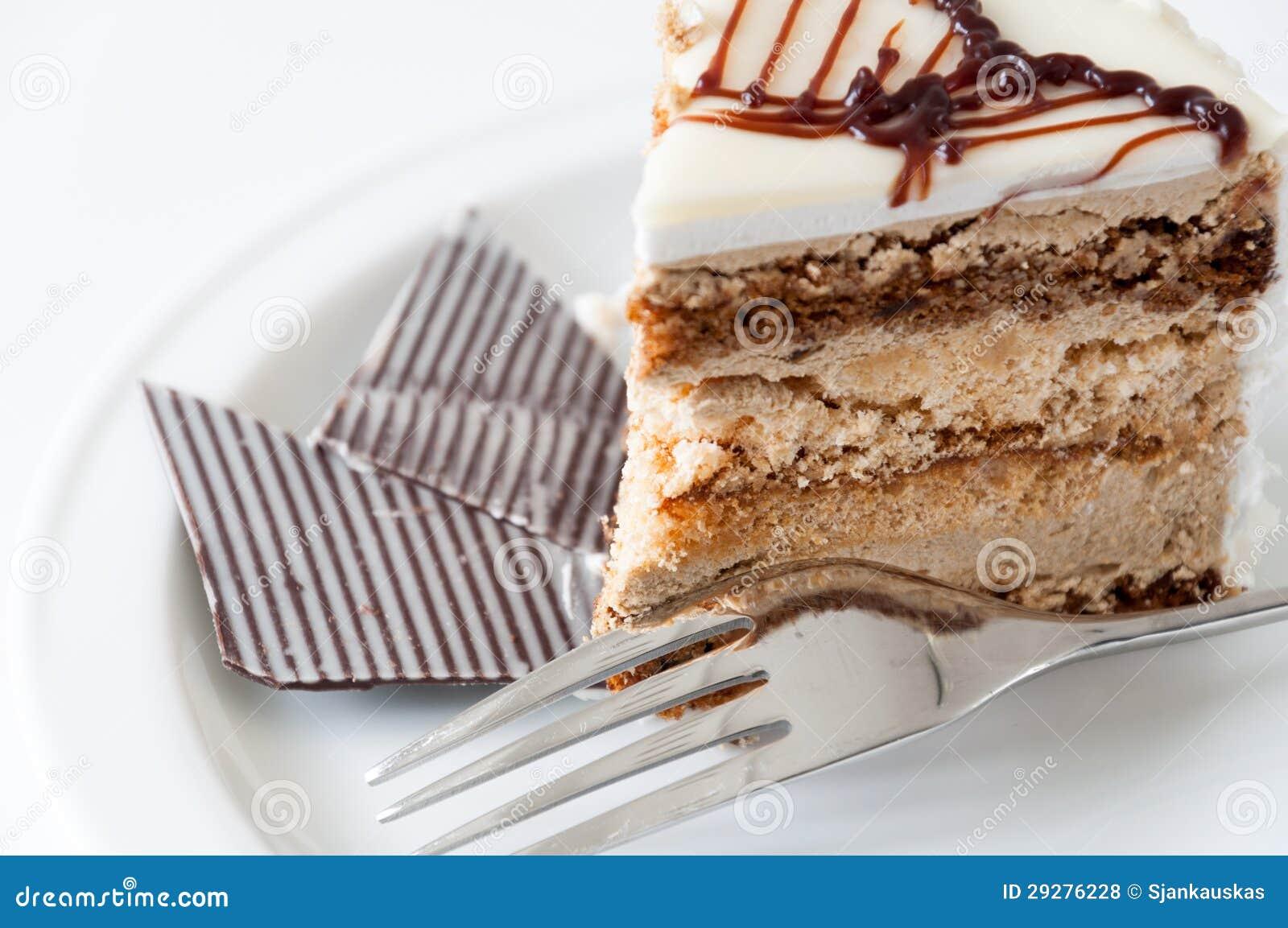 Stuk van cake