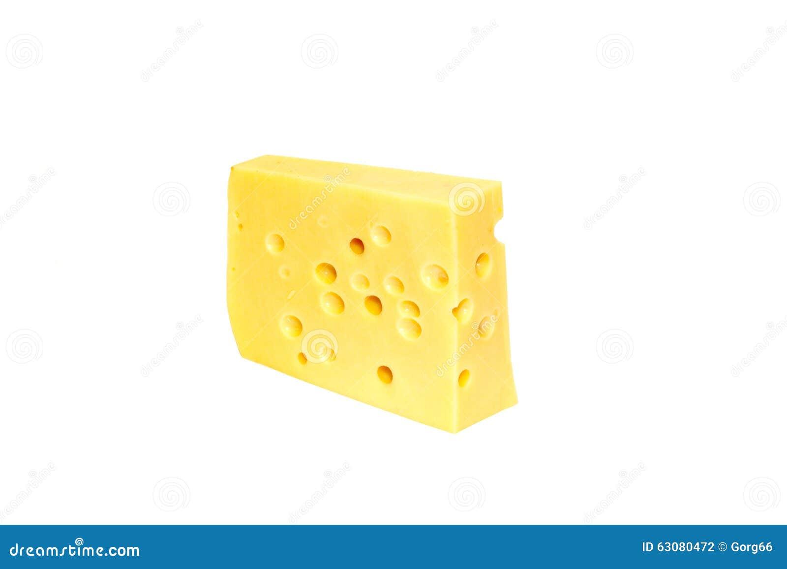 Stuk van gele kaas