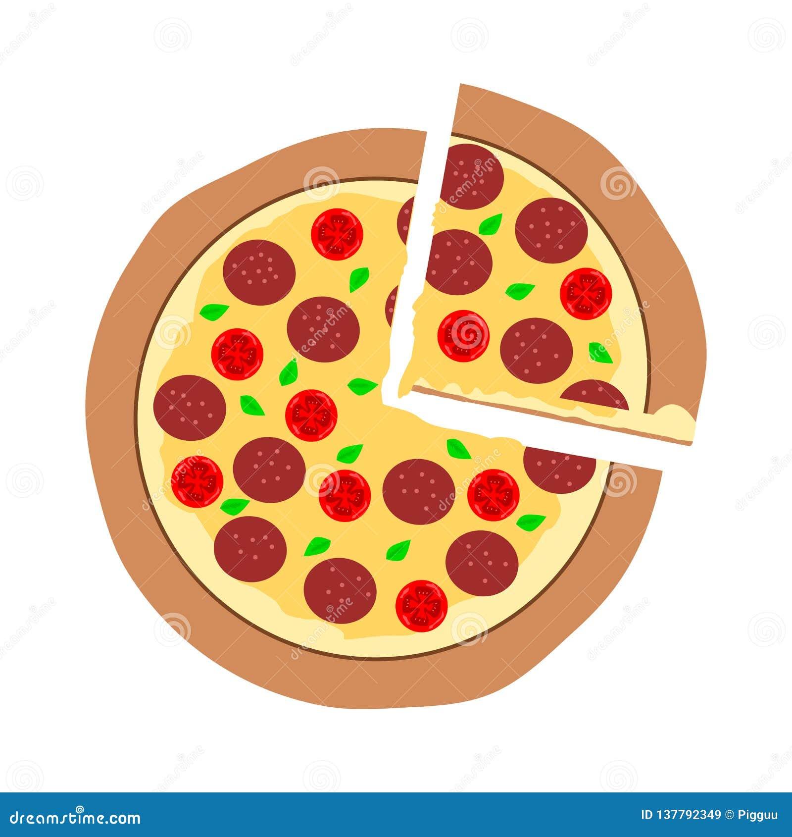 Stuk van gesneden pepperonispizza, de hete die kaas van de smeltingsmozarella op bovenkant op witte achtergrond wordt geïsoleerd;