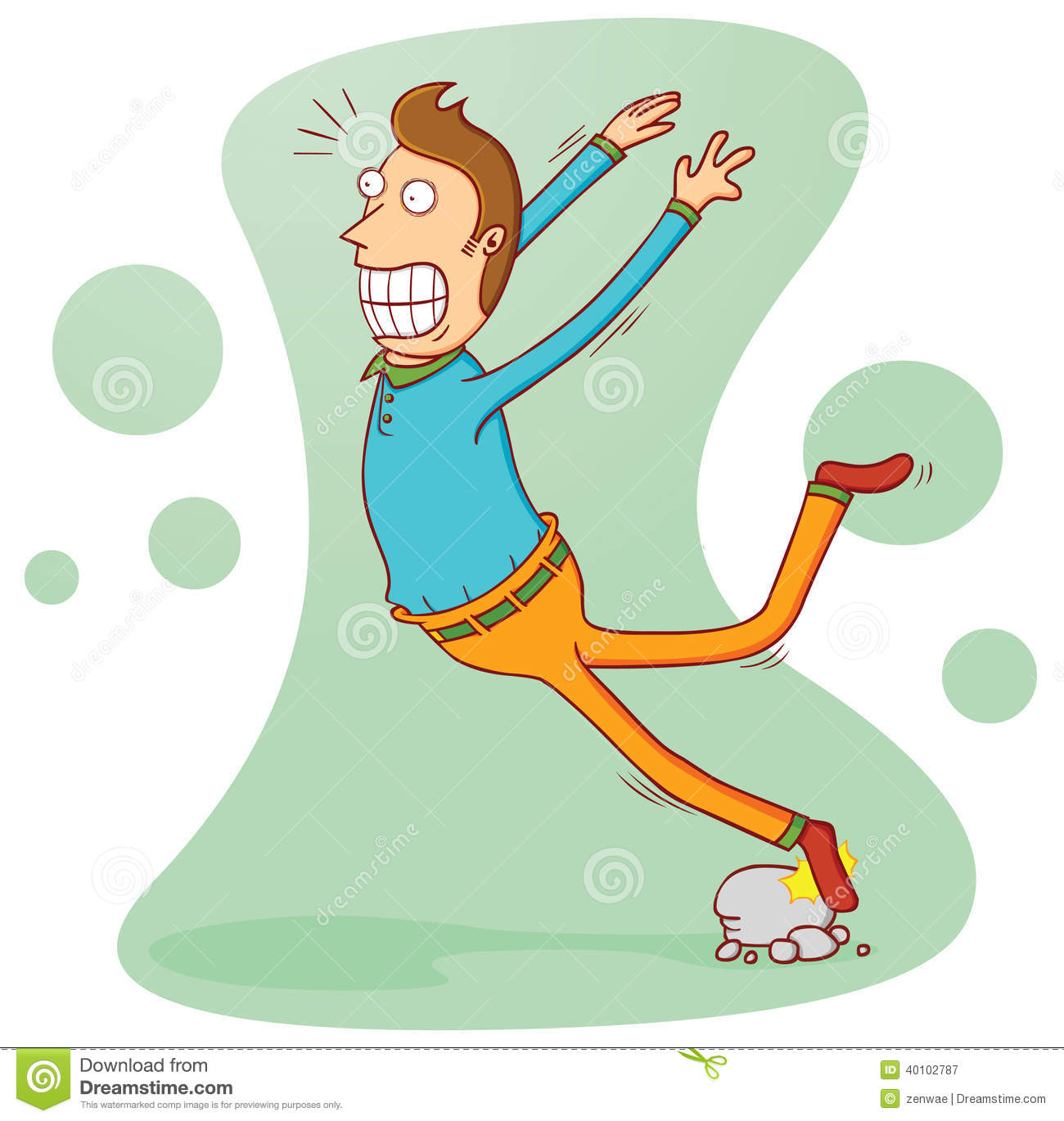 Illustration of a man stumbling by some stones. available in vector ...