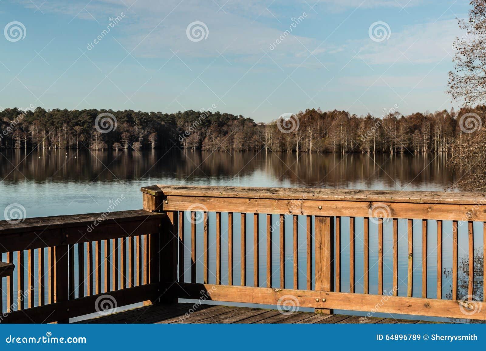 Stumpy Lake in Fall from Fishing Pier
