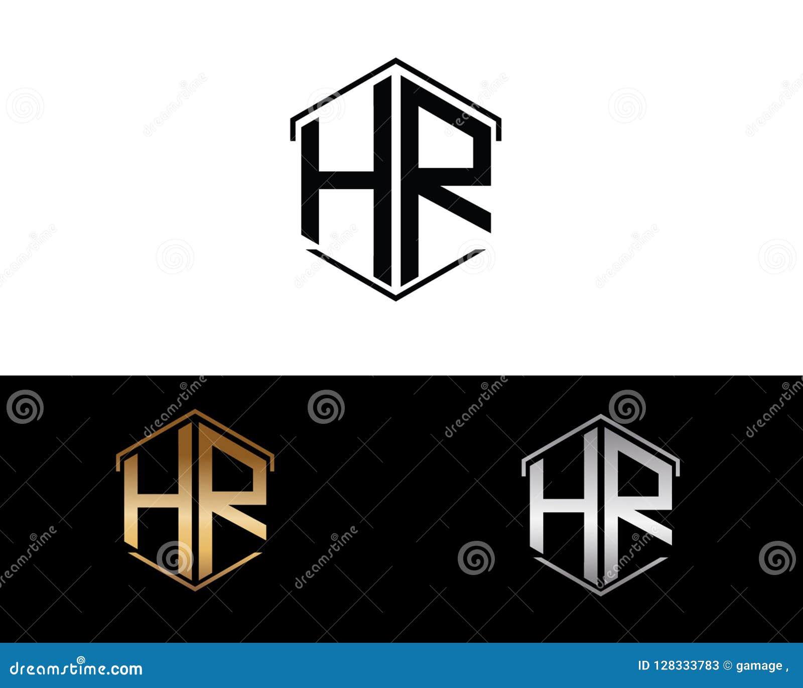 Stunden-Buchstaben verbunden mit Hexagonformlogo