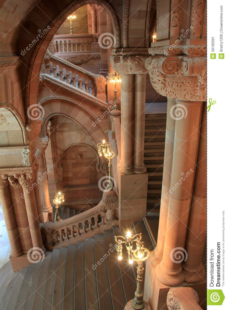 Stunning design of grand staircase albany state capitol for Grand staircase design
