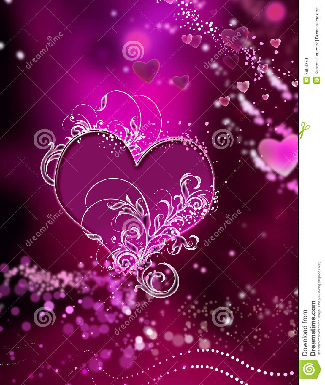 stunning hearts and sparkles swirl abstract stock images