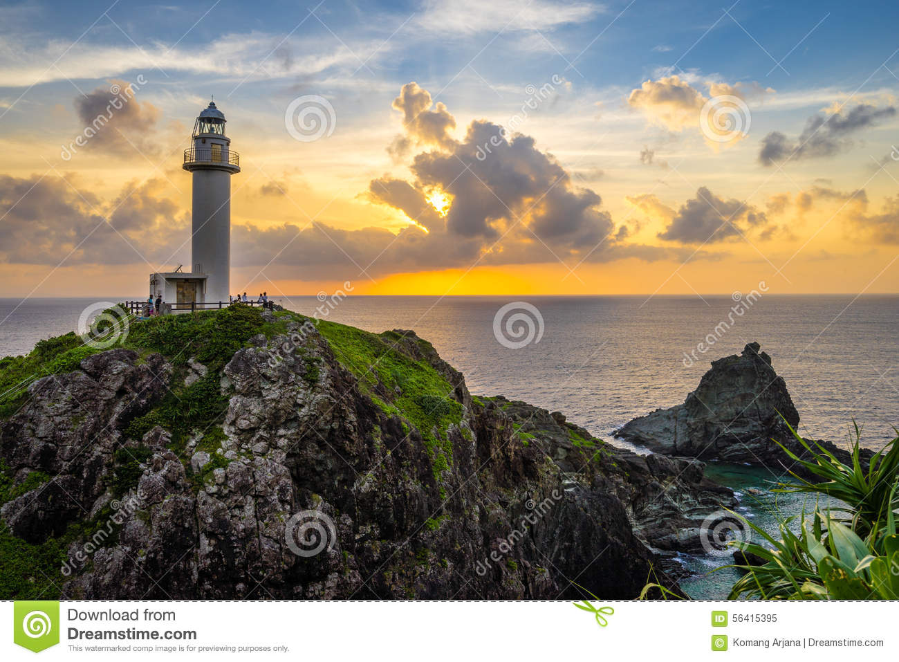 Stunning Lighthouse In The Island Stock Photo Image