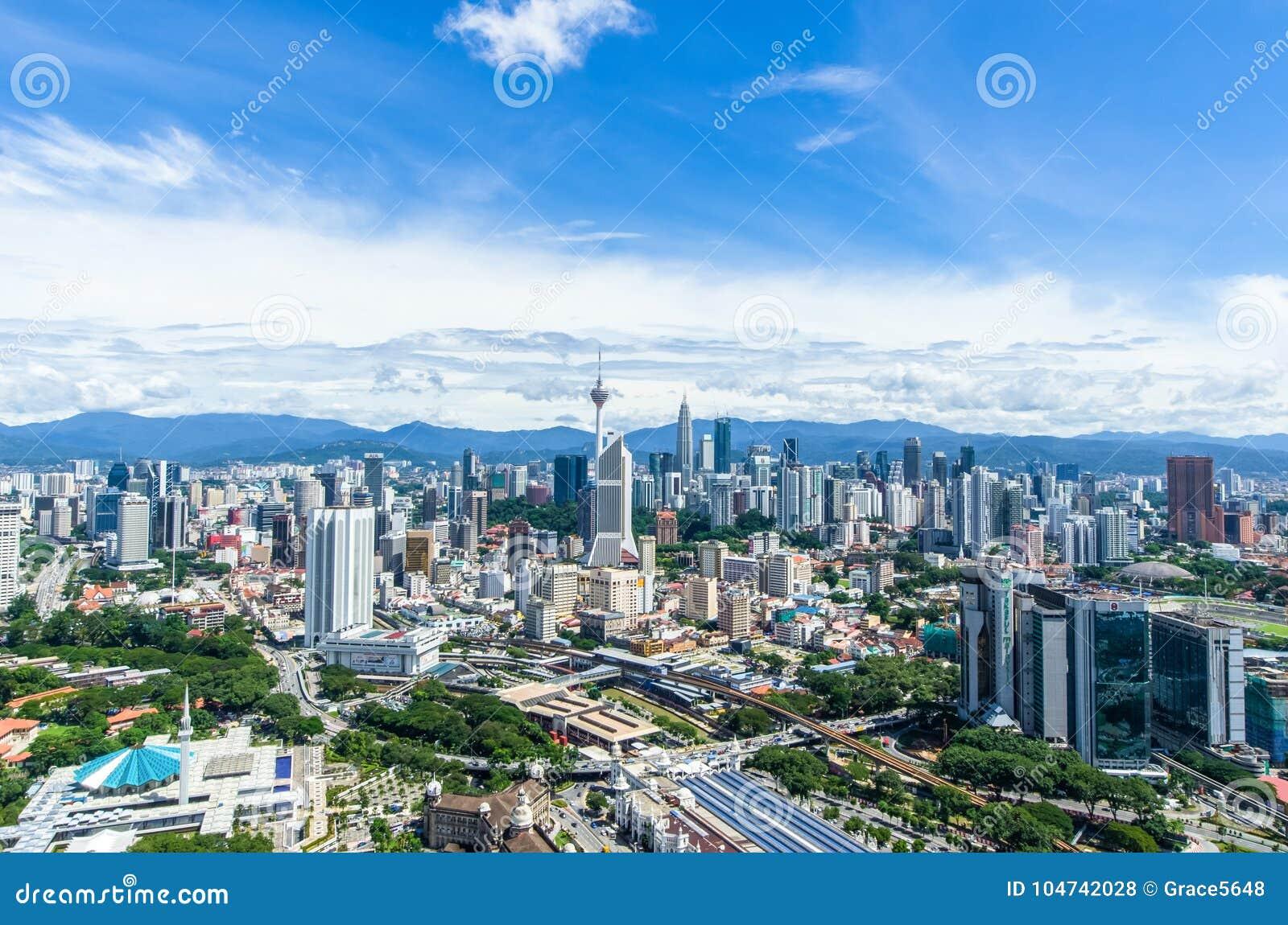 Stunning view of Kuala Lumpur cityscape. Kuala lumpur is the capital city of Malaysia.