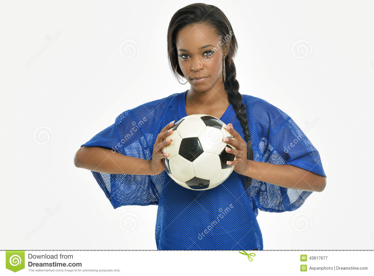 Player 43617677 - Female Young Of Stock American Soccer Image African Ball Stunning