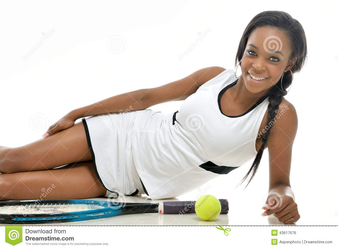 Stunning Young African American Tennis Player Stock Photo -2566