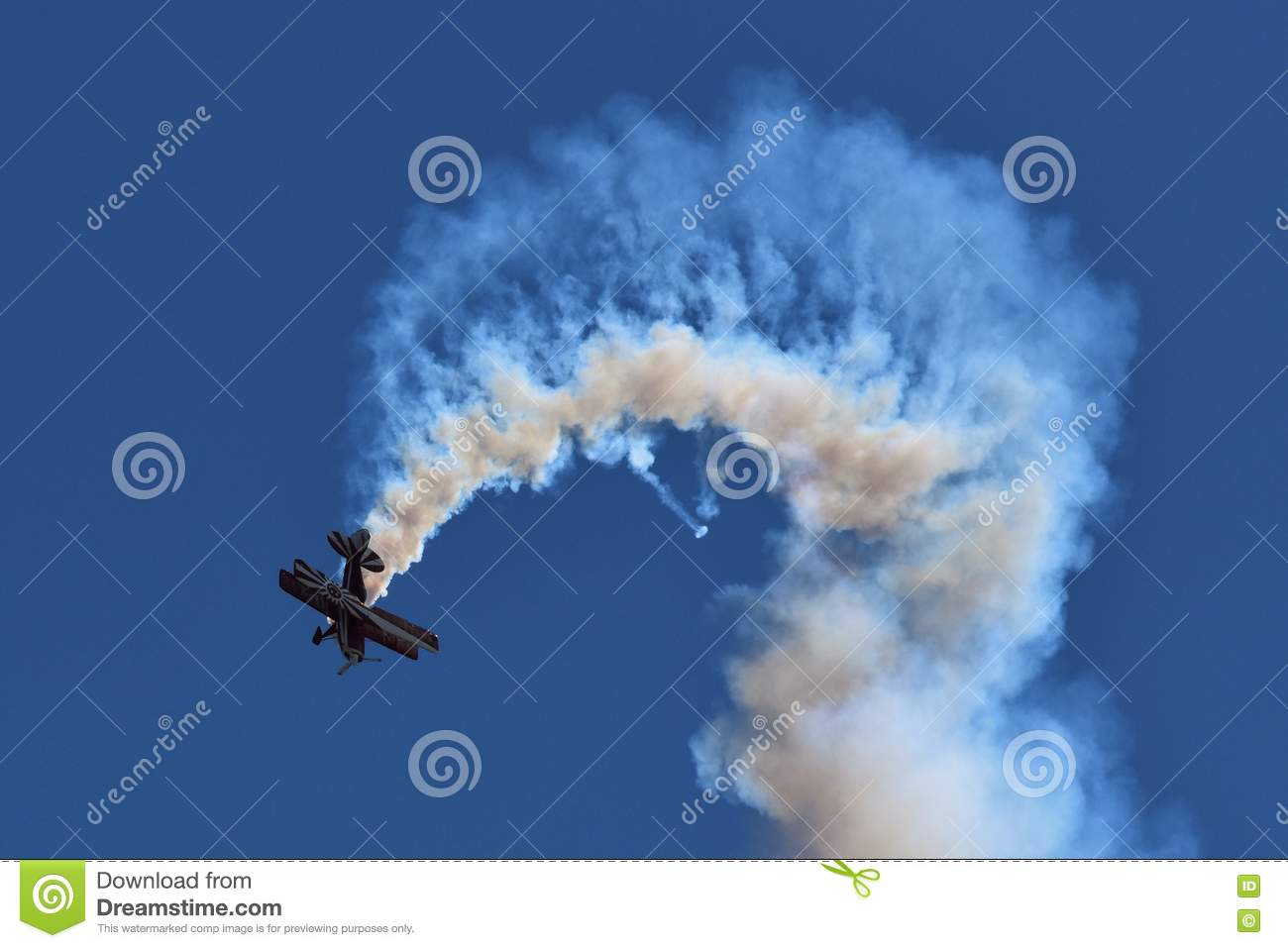 Stunt Plane editorial photography  Image of fighter, fight