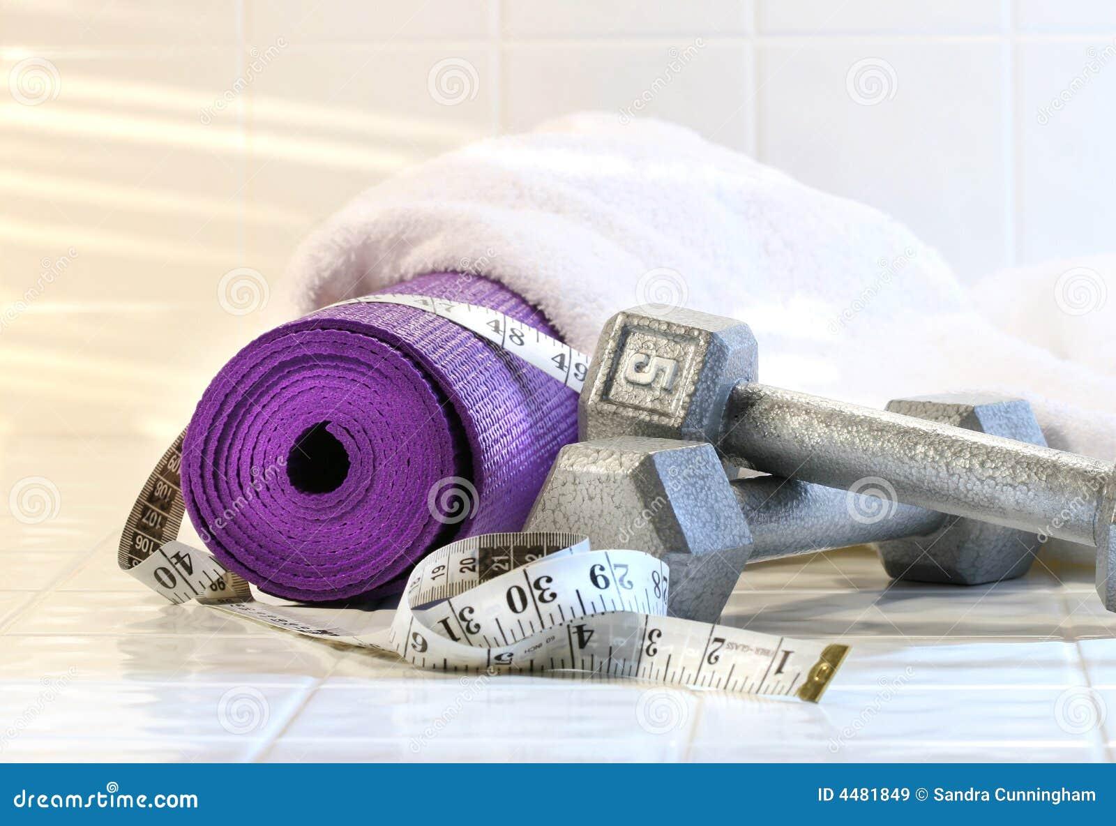 Stuoia di esercitazione con i pesi