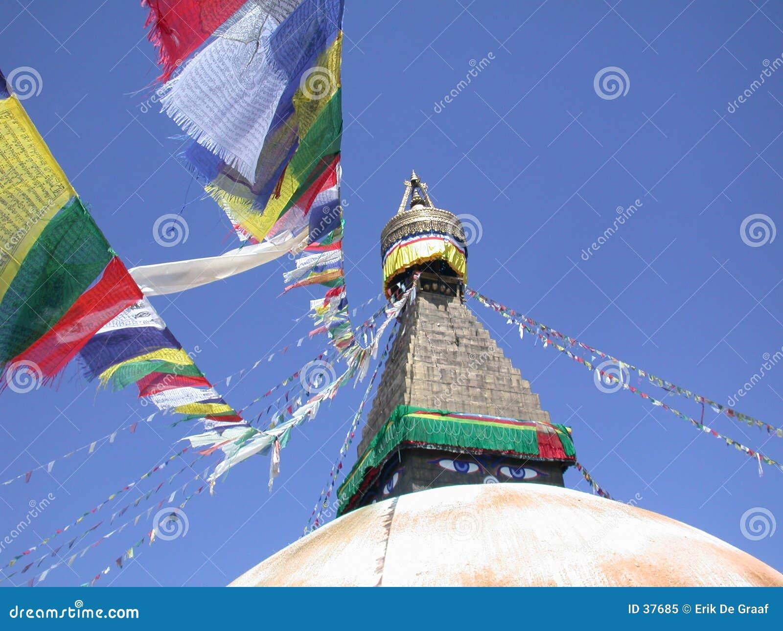 Download Stupa de Bodnath imagen de archivo. Imagen de viajero, religión - 37685