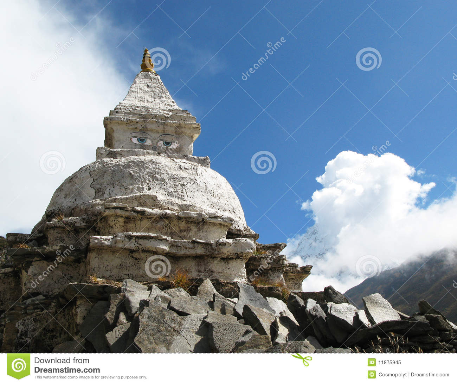 Stupa In Himalaya Royalty Free Stock Photo