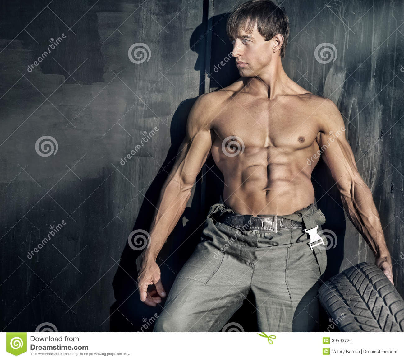Sturdy Guy Stock Photo Image Of Dark Masculine