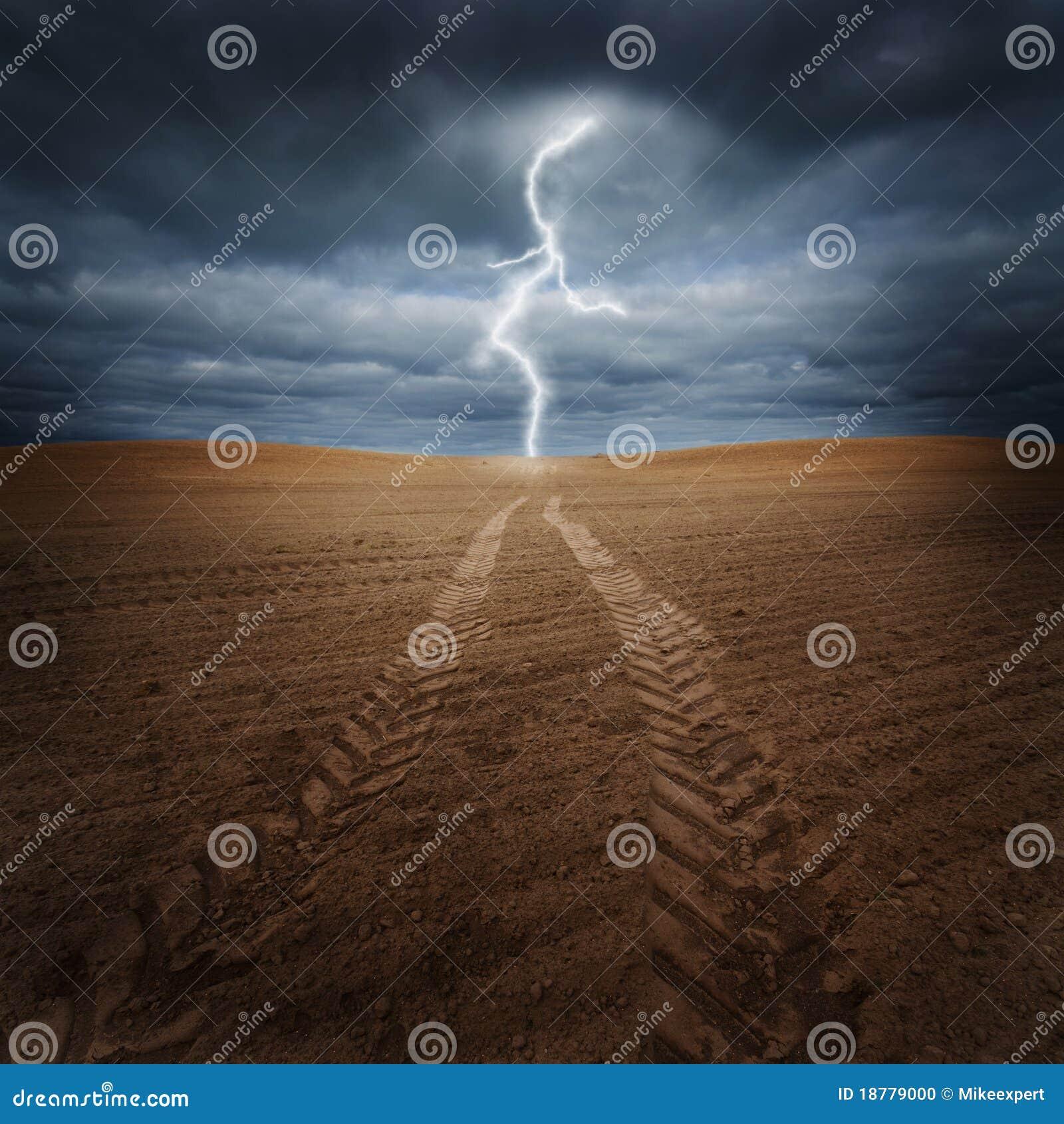 Sturm auf dem Feld