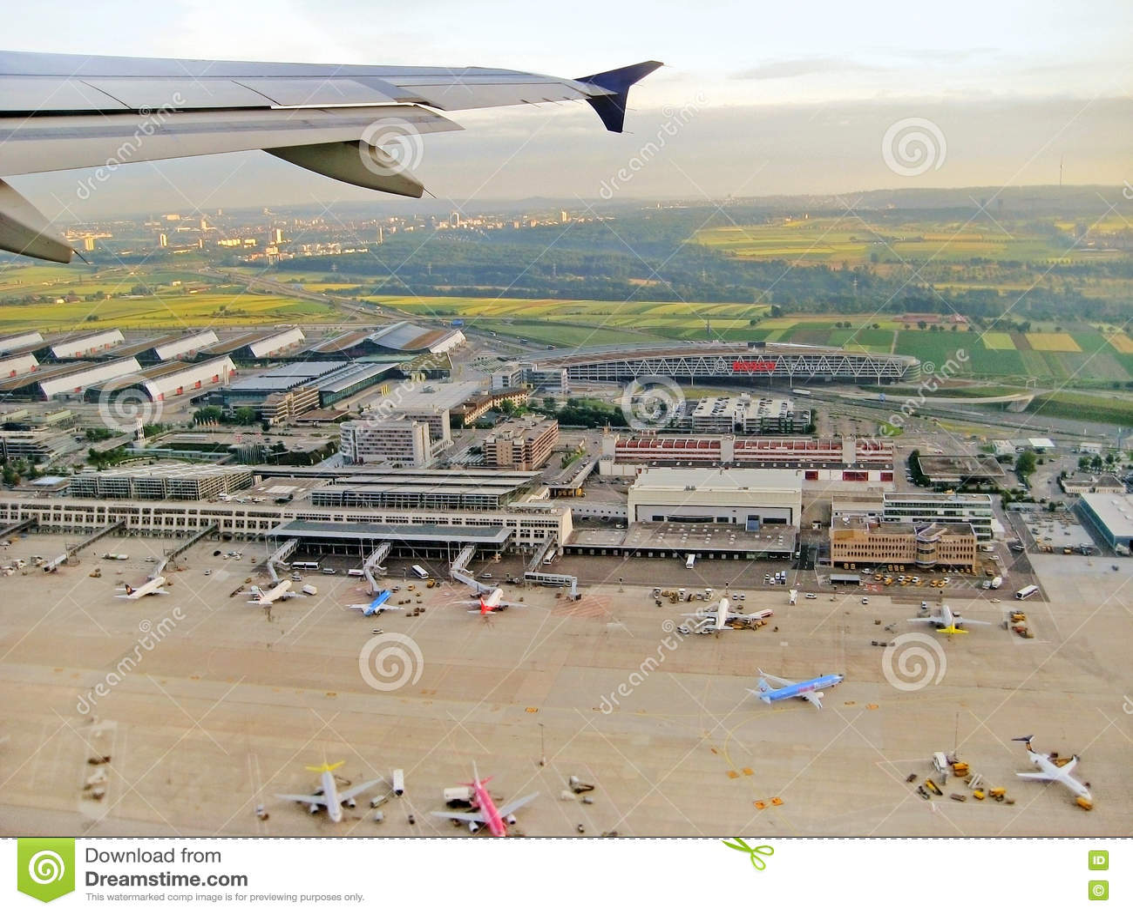Stuttgart Airport editorial stock photo. Image of aviation   20