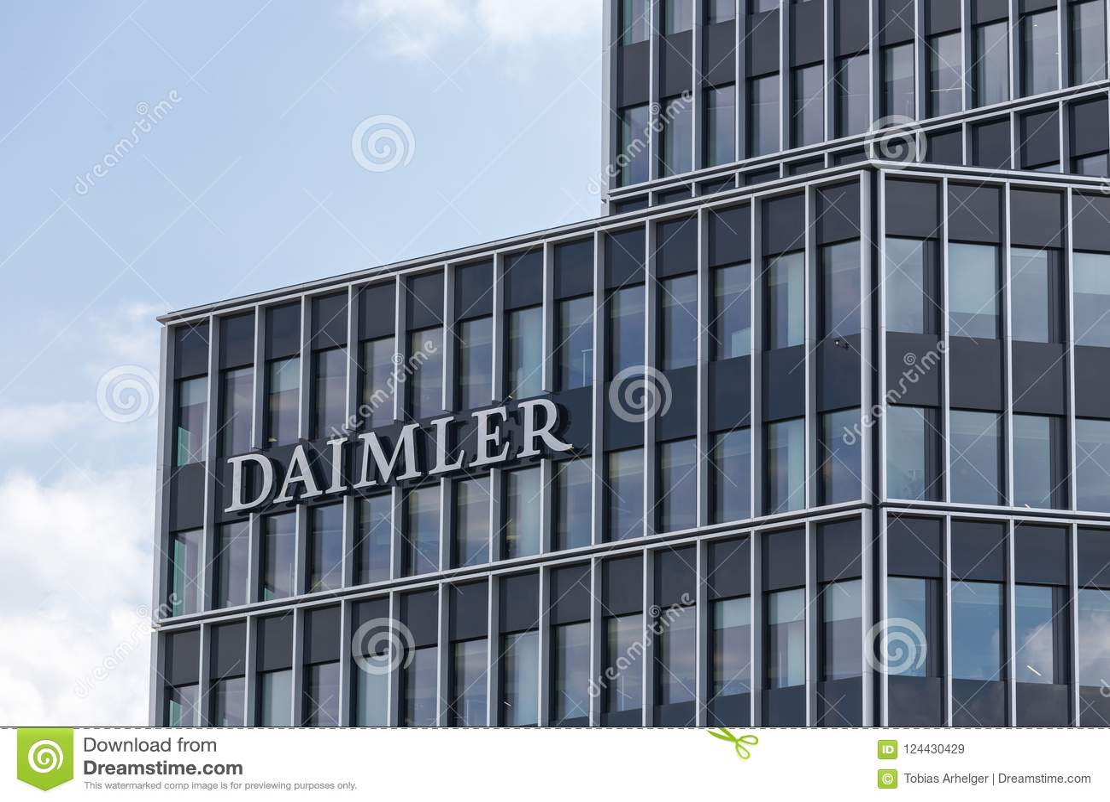 Stuttgart, Baden-Wurttemberg/Deutschland - 21 08 18: daimler zentrale Fabrik Stuttgart Deutschland
