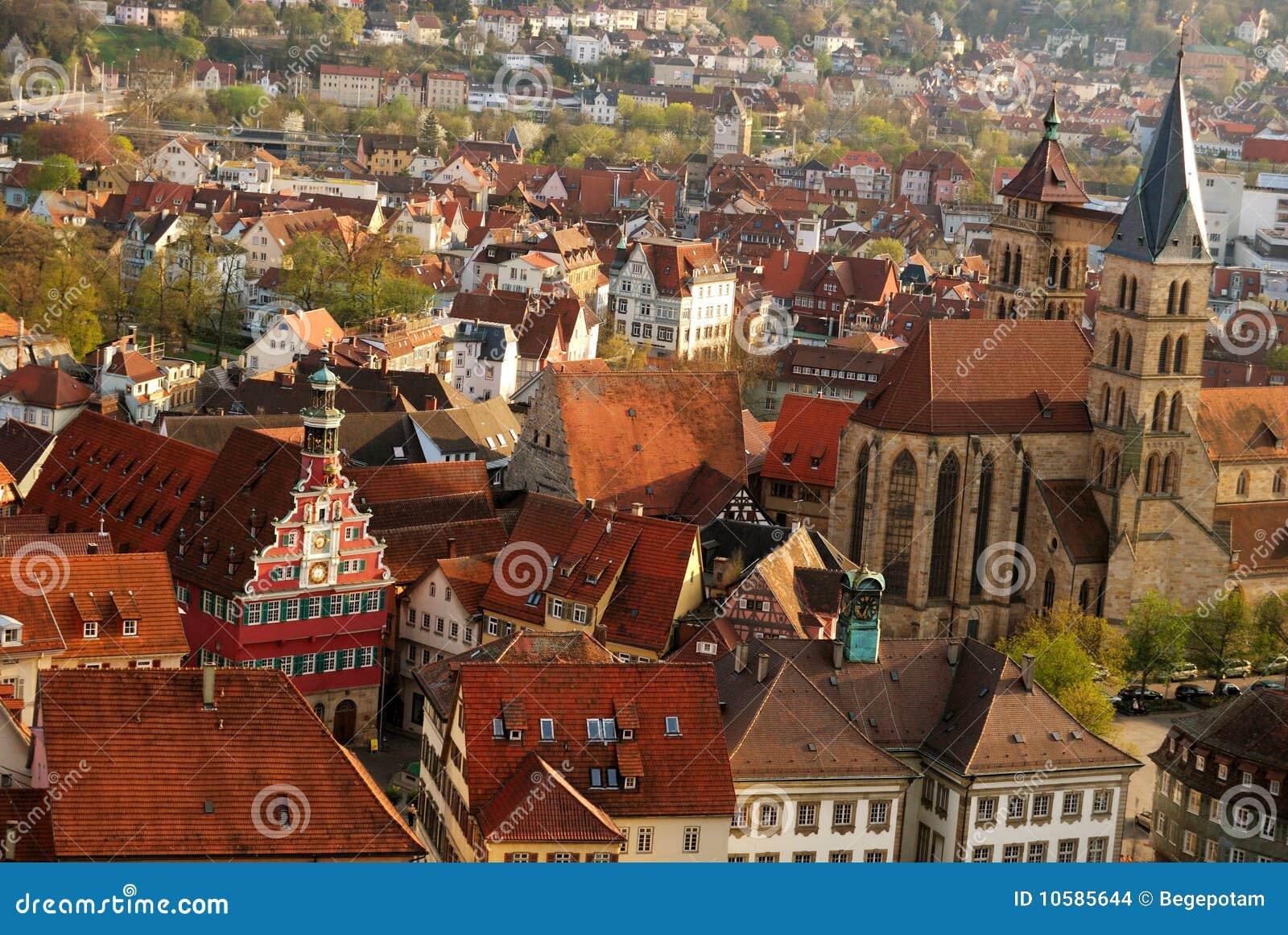 Stuttgart Esslingen Old Town Centre Stock Images Image