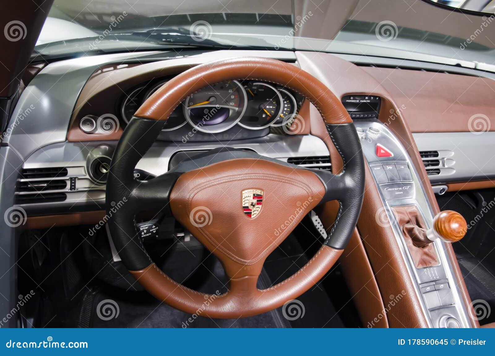 Porsche Museum Porsche Carrera Gt 2003 Dashboard Editorial Image Image Of Design Interior 178590645