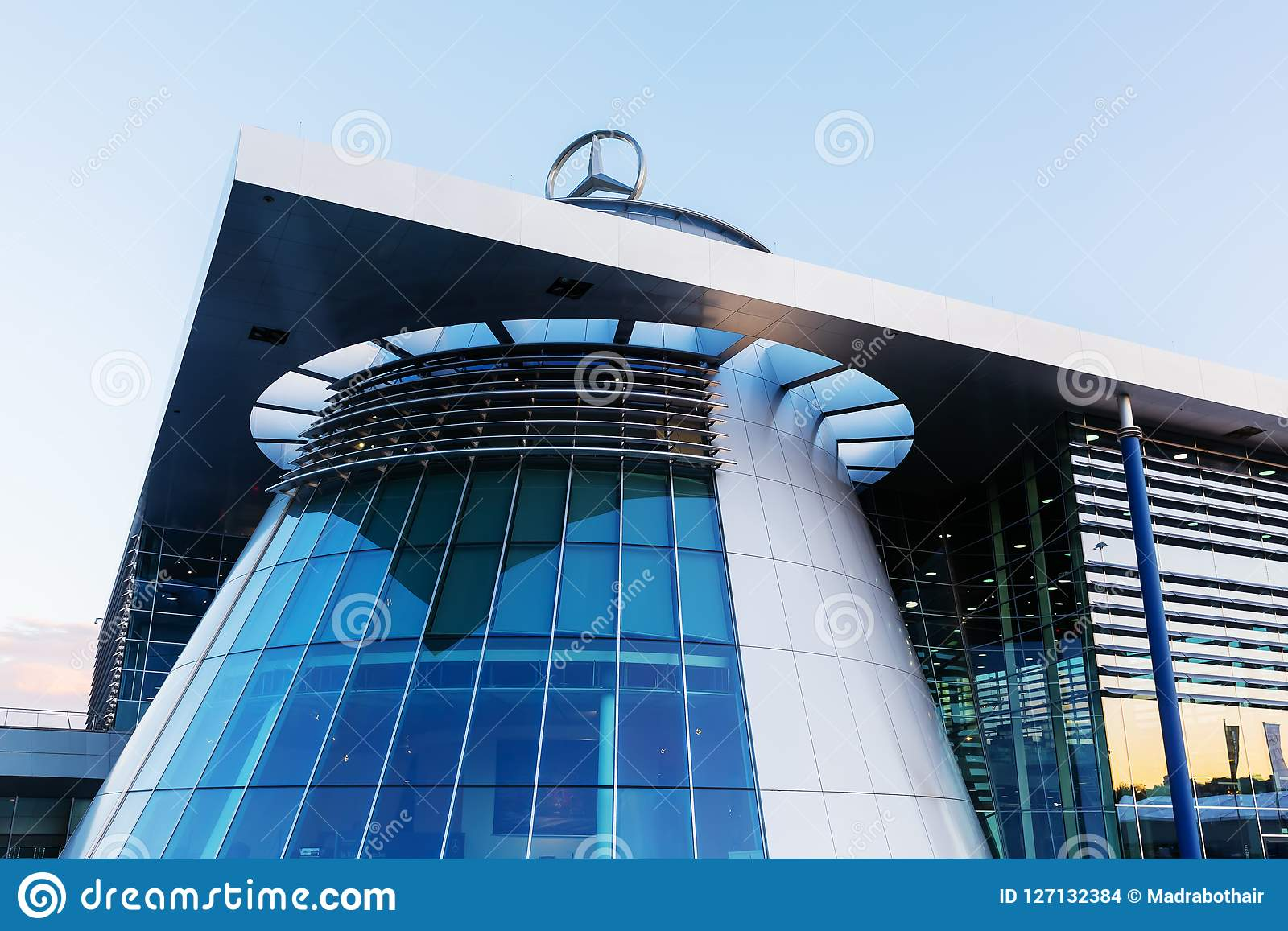 Mercedes Benz Headquarters In Stuttgart, Germany Editorial ...