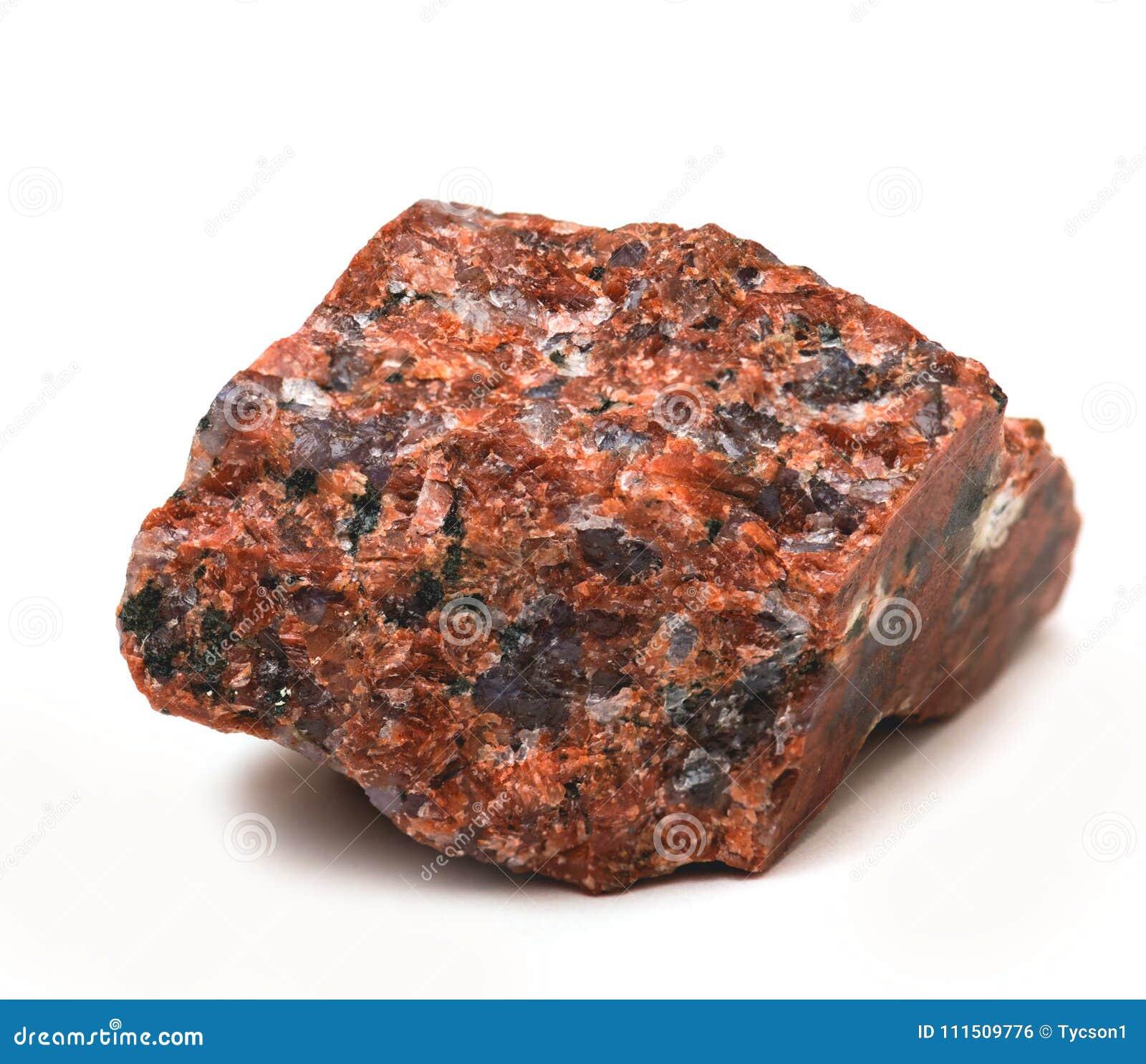 Stycke av polerad granit