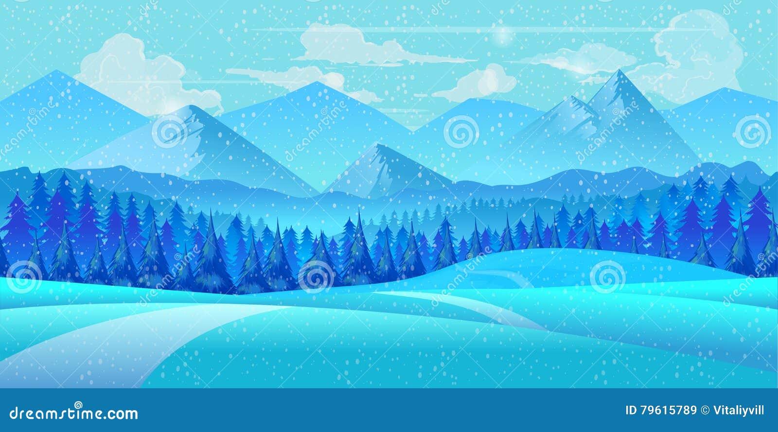 Styczeń 33c krajobrazu Rosji zima ural temperatury również zwrócić corel ilustracji wektora