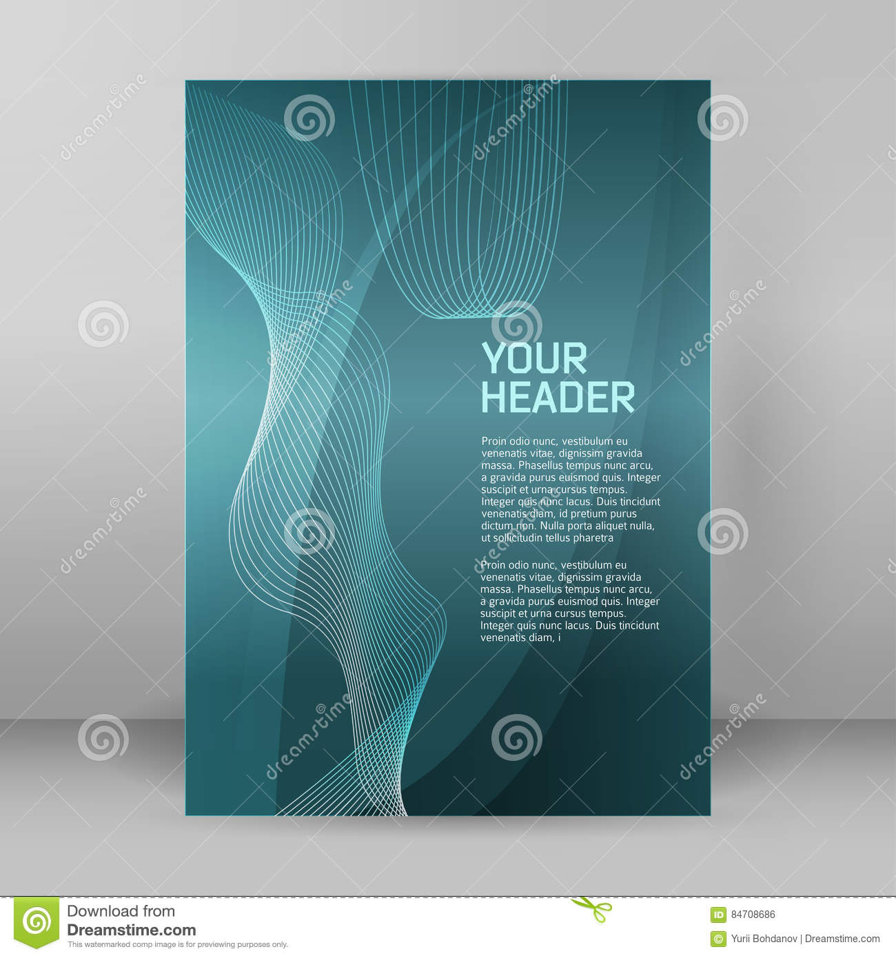 Download Style Business Presentation Template Format A4 Cover Page Stock Vector