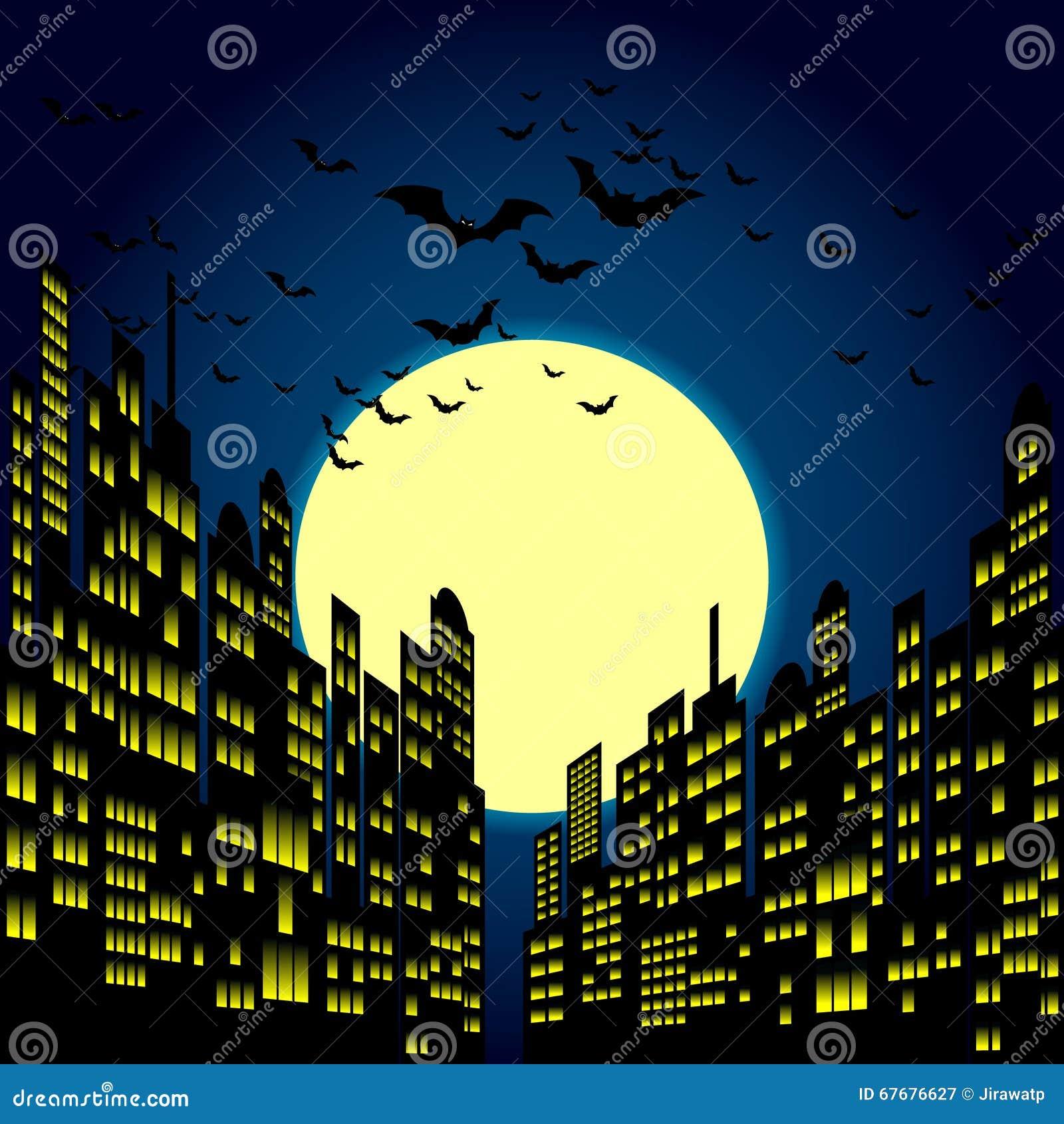cartoon night vector wallpaper - photo #16