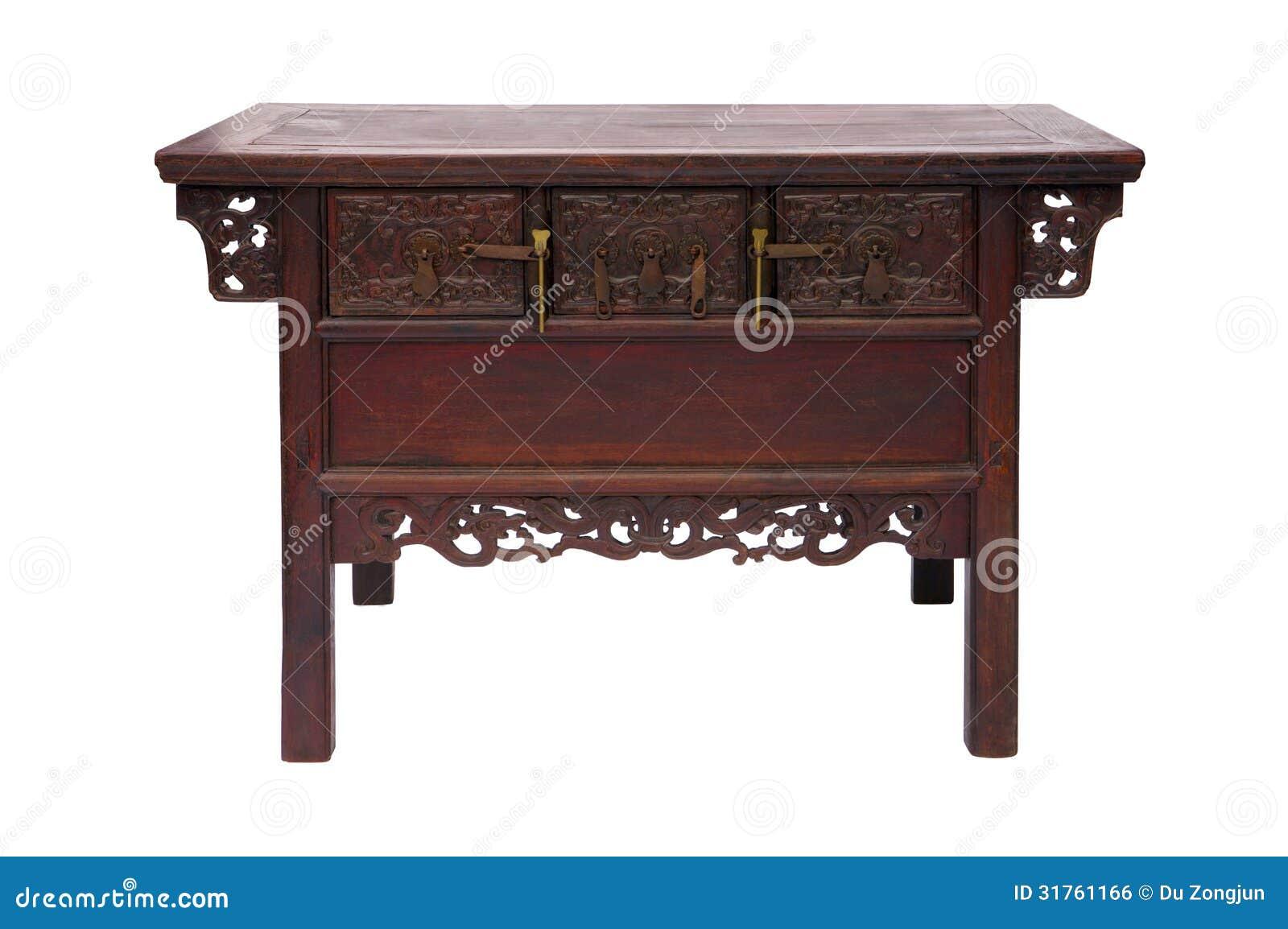 Style chinois en bois de table
