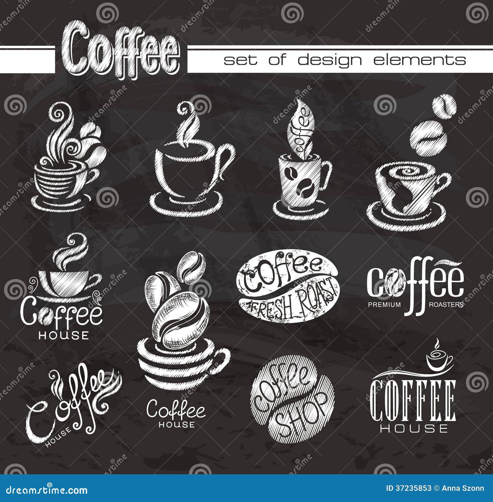 Рисунок на доске кофе