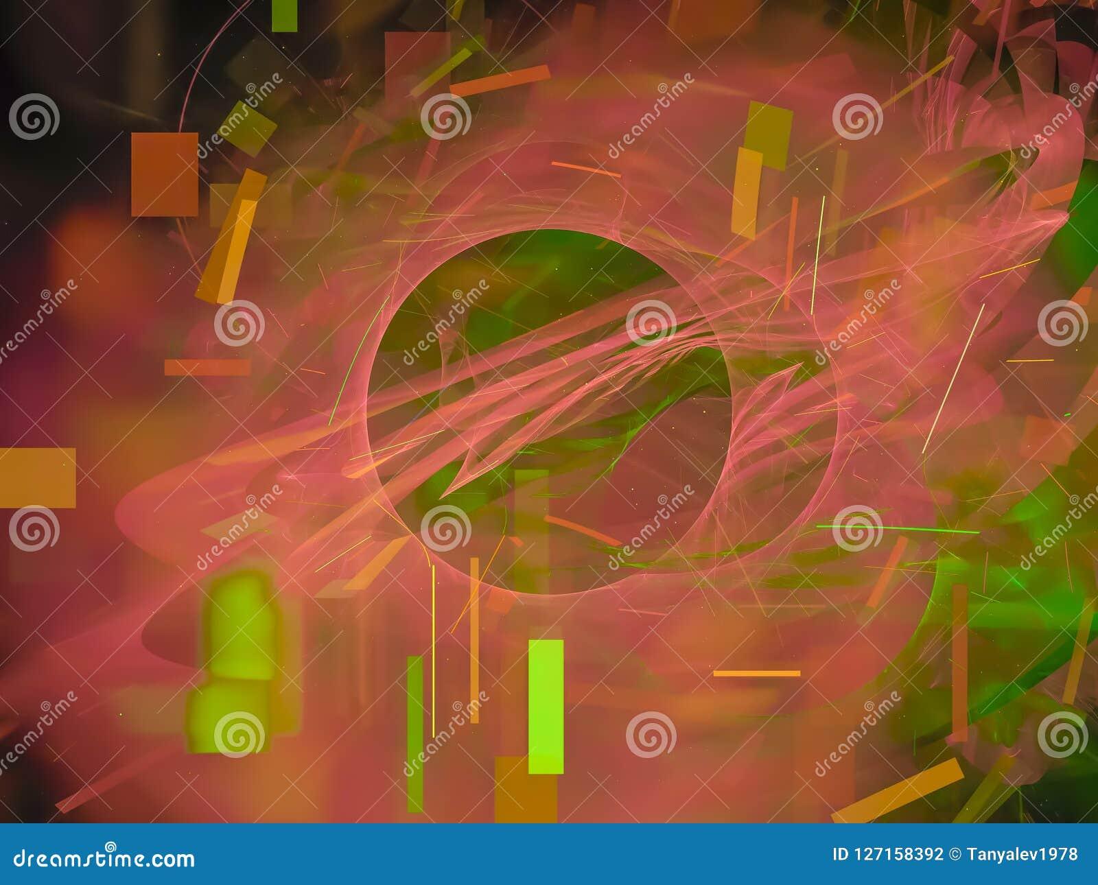 Style de fractale, future idée créative d ornement de concept de carte fantastique de puissance rendant le fond de mystère, magie
