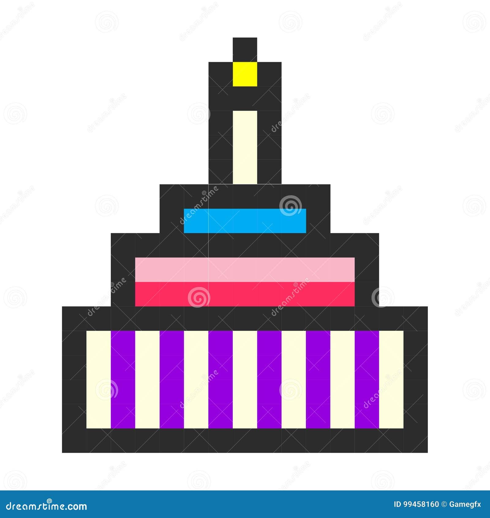 Style De Jeu De Bande Dessinée Dart De Pixel De Gâteau D