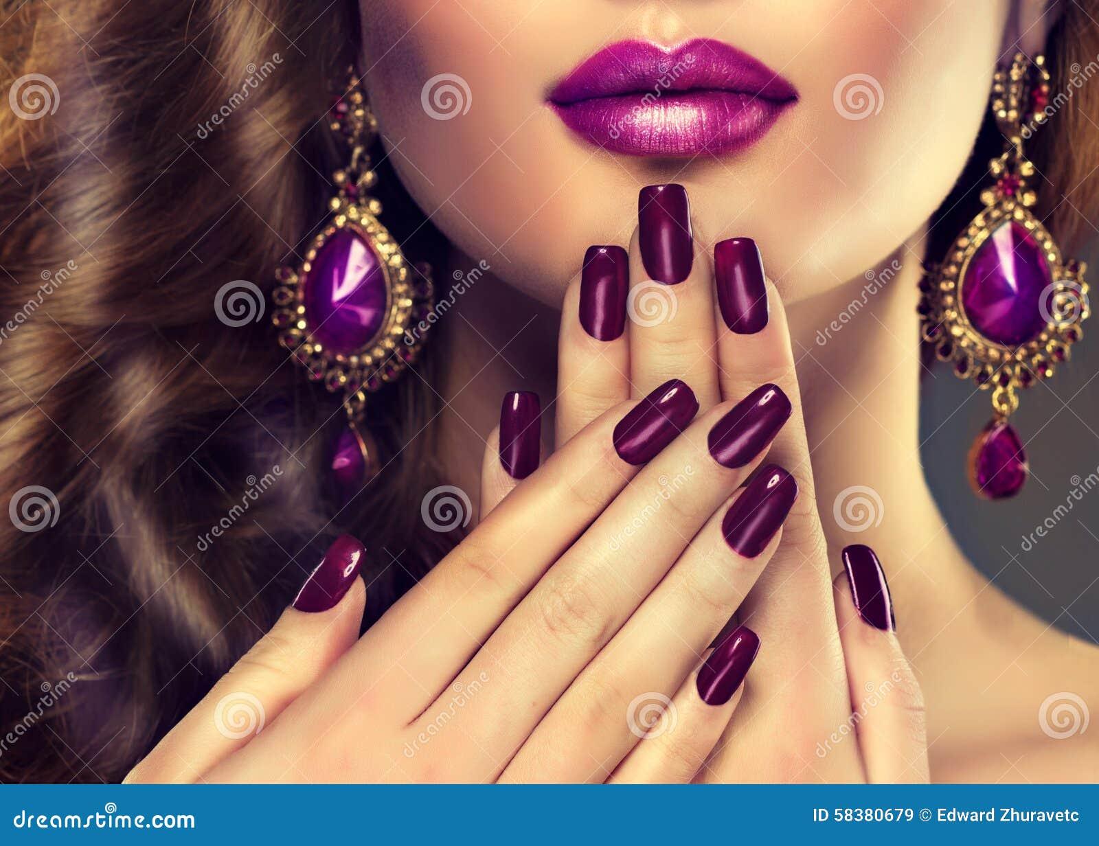 Style de luxe de mode, manucure d ongles