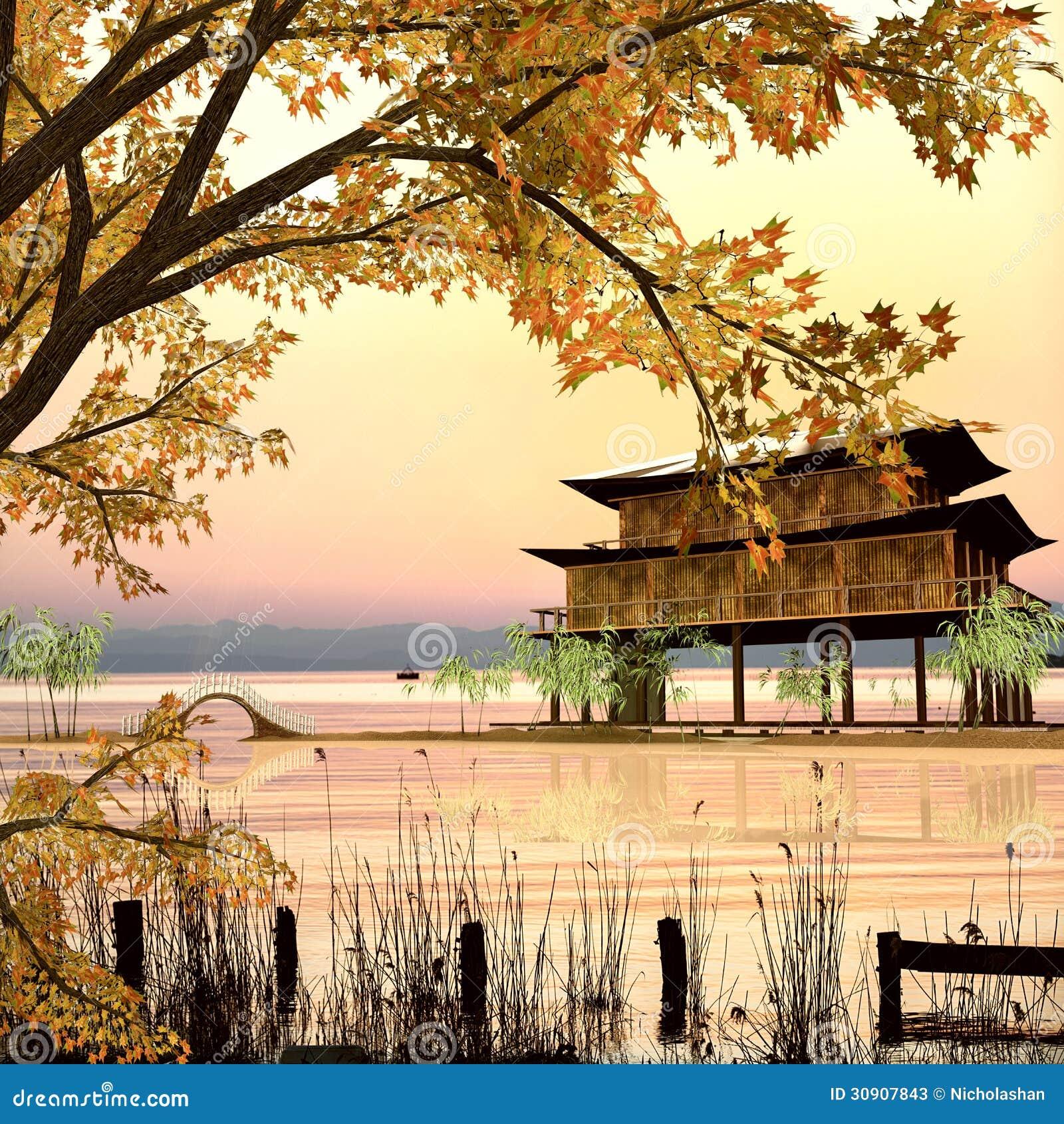 Style de peinture de paysage chinois image stock image for Style de peinture