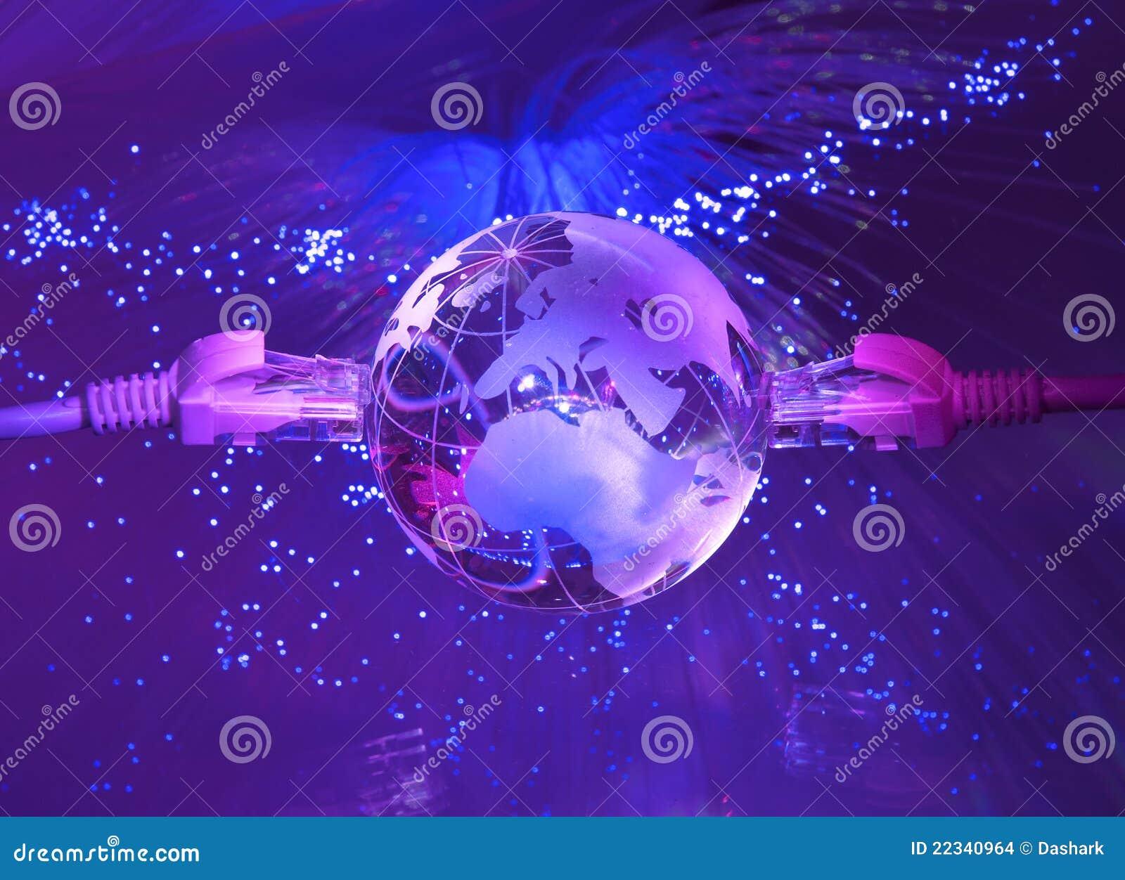 Style de technologie de carte du monde