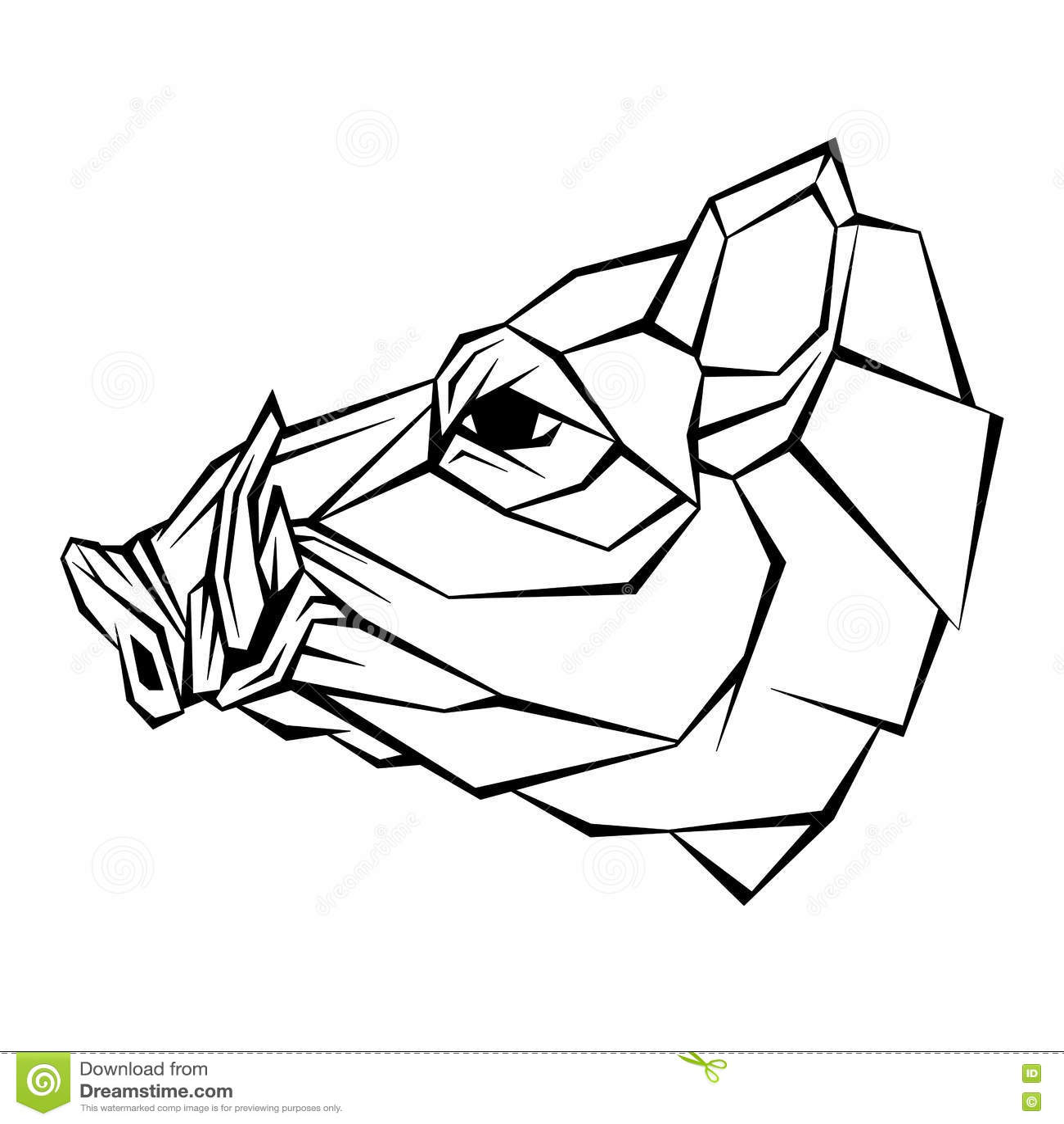 style de vecteur de t te de sanglier g om trique illustration de vecteur image 76990354. Black Bedroom Furniture Sets. Home Design Ideas