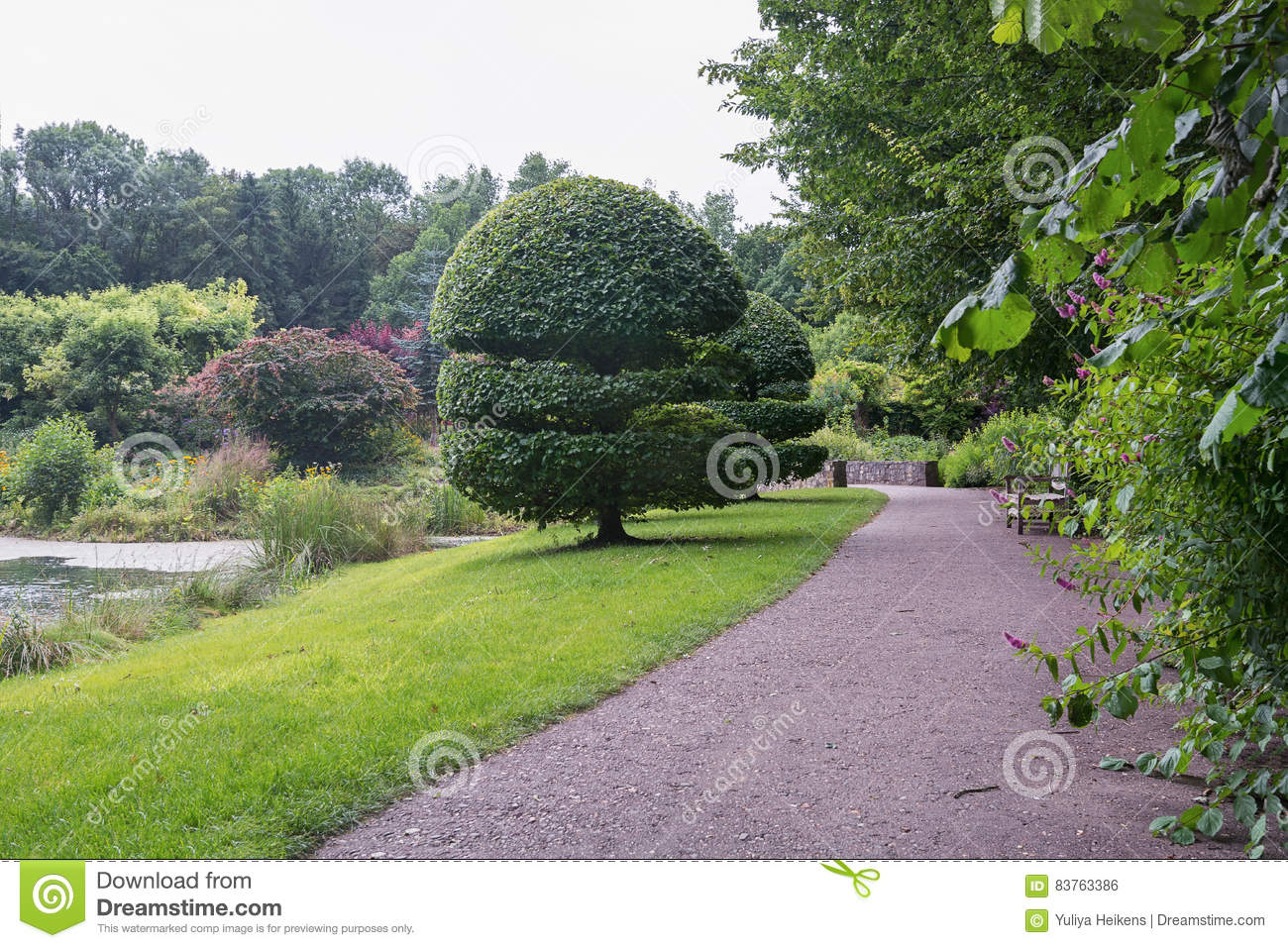 The Style Of The English Garden Stock Photo Image Of Natural
