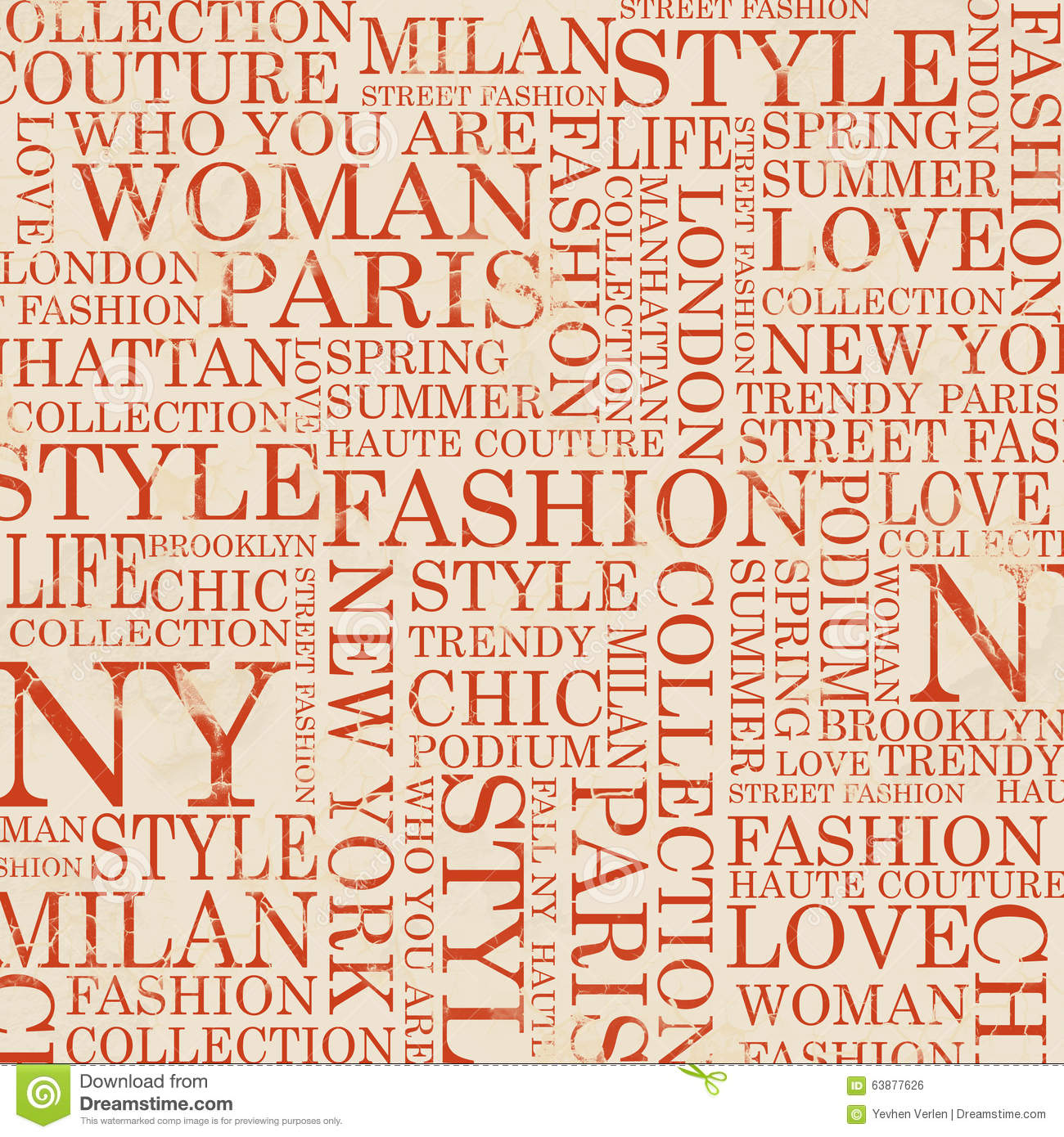 Style And Fashion Word Cloud Concept Stock Illustration Image 63877626