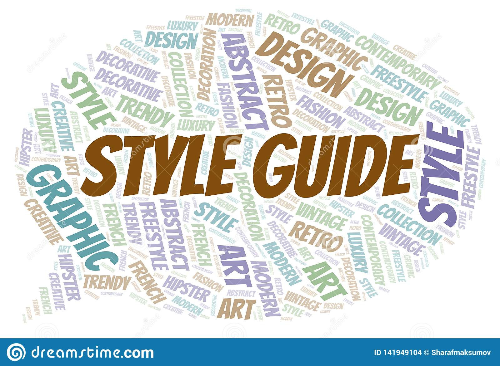 Style Guide word cloud