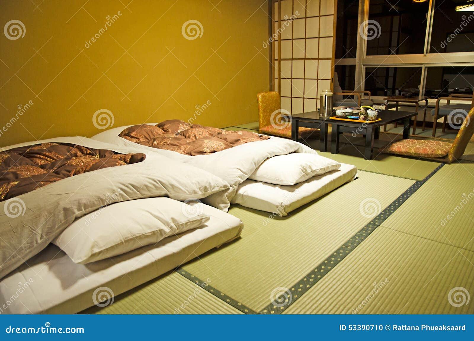 Style Japonais De Chambre à Coucher Photo stock - Image du ...
