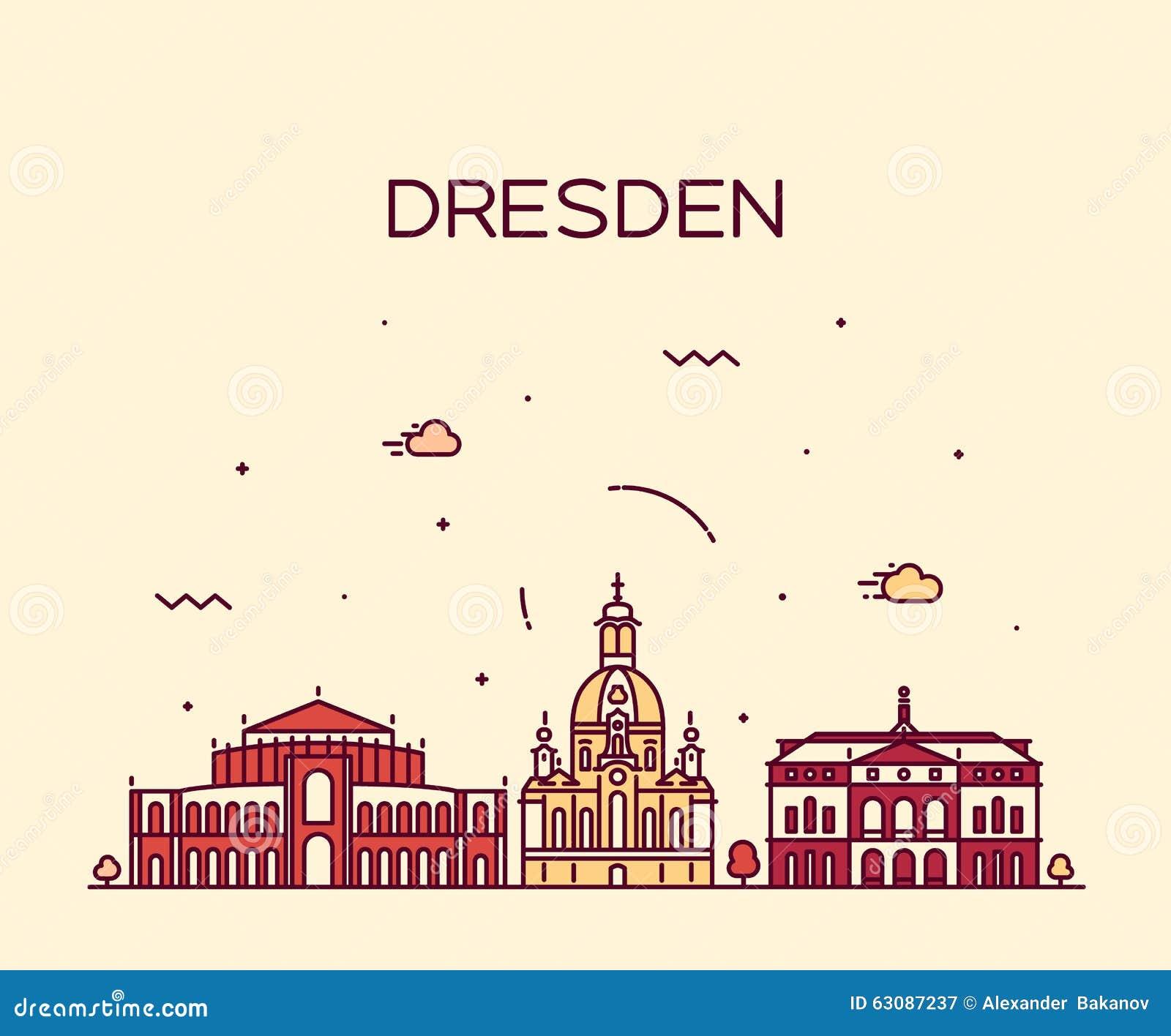Download Style Linéaire D'illustration De Vecteur D'horizon De Dresde Illustration de Vecteur - Illustration du europe, illustration: 63087237