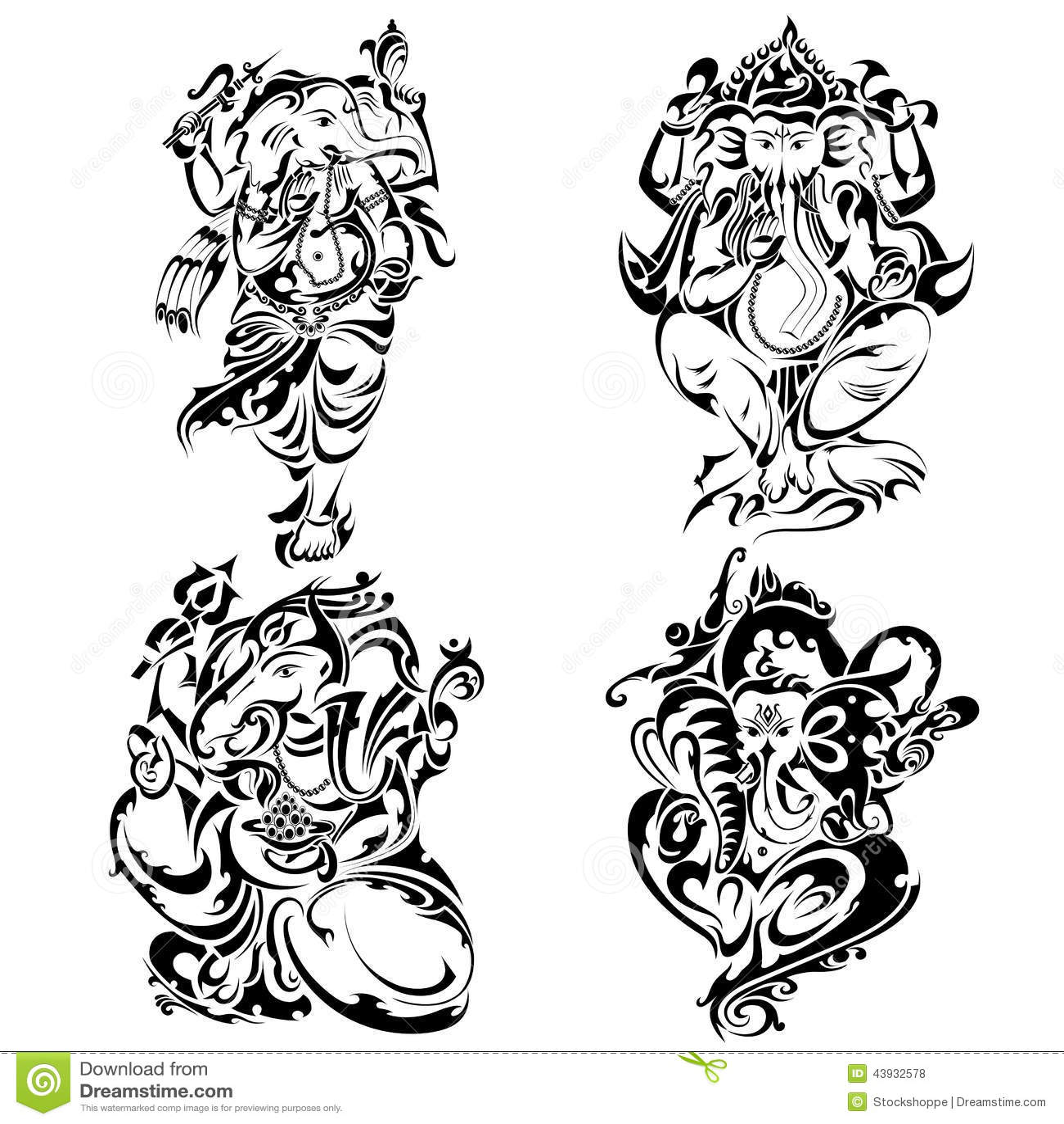 Style Lord Ganesha de tatouage