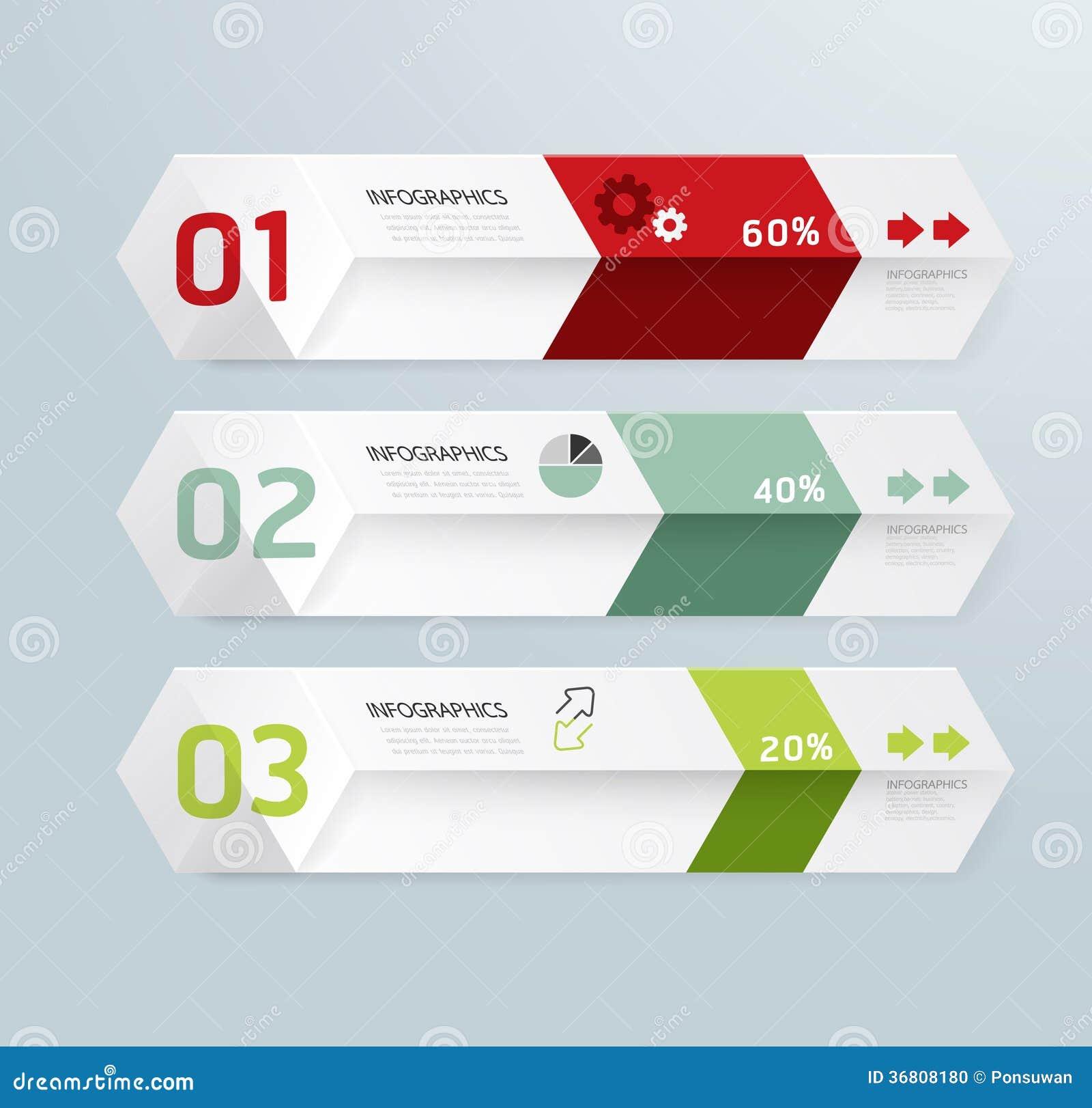 Style minimal de conception moderne de boîte de calibre d Infographic
