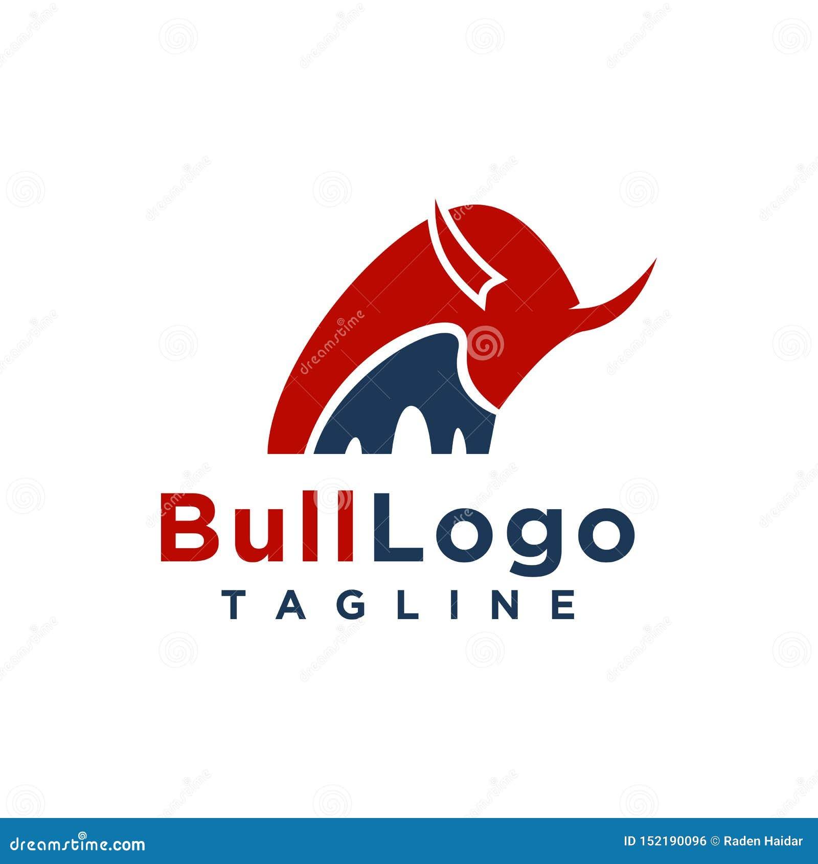 Style minimaliste simple de conception de logo de Taureau pour la marque d affaires ou de société