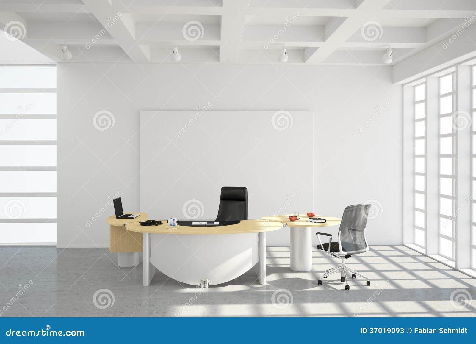 Style moderne de grenier de bureau illustration stock