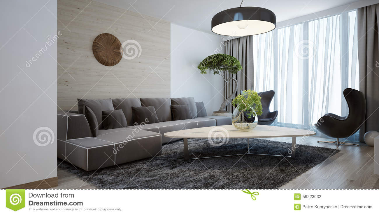 Style moderne de salon lumineux photo stock image 59223032 for Salon lumineux